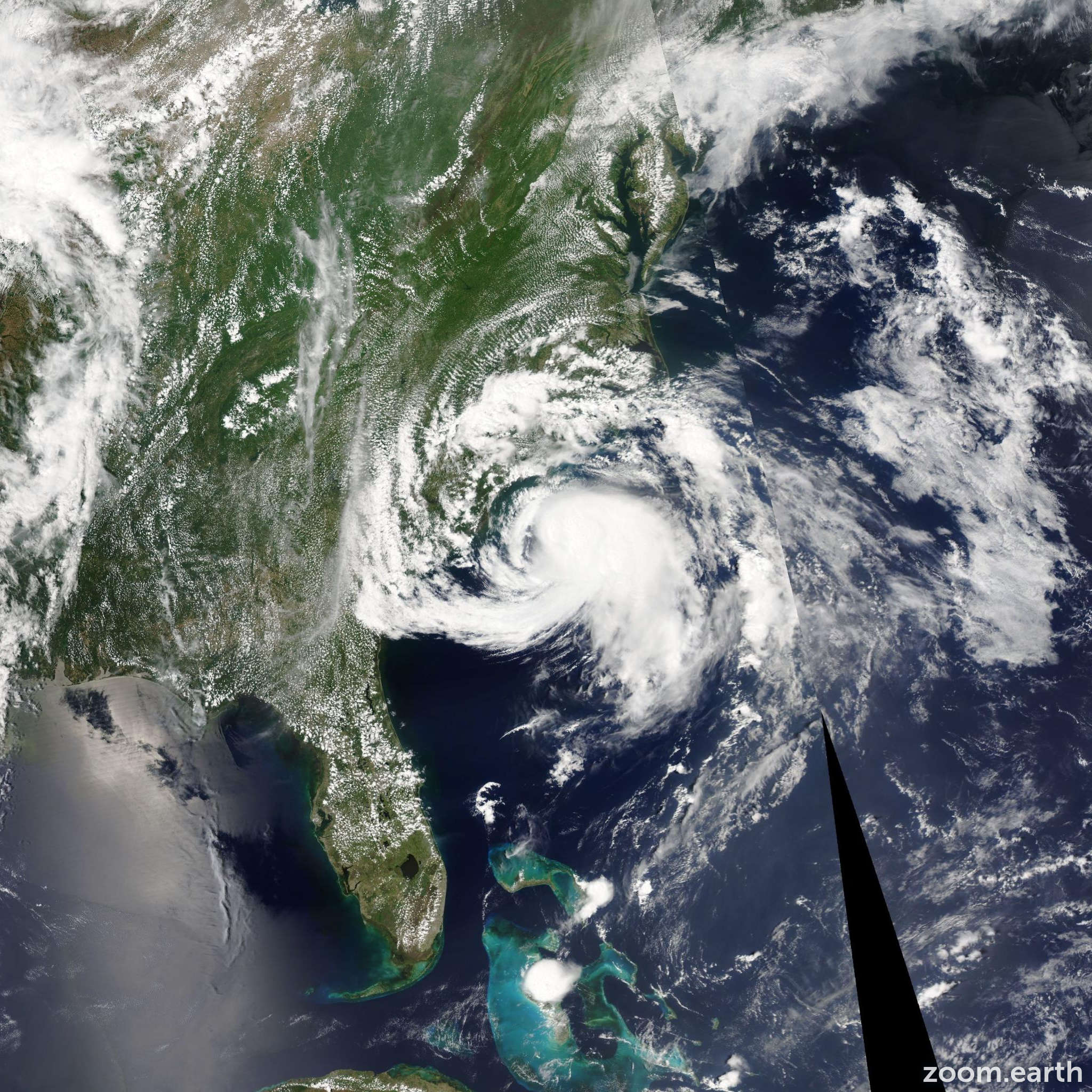 Satellite image of Storm Ana 2015