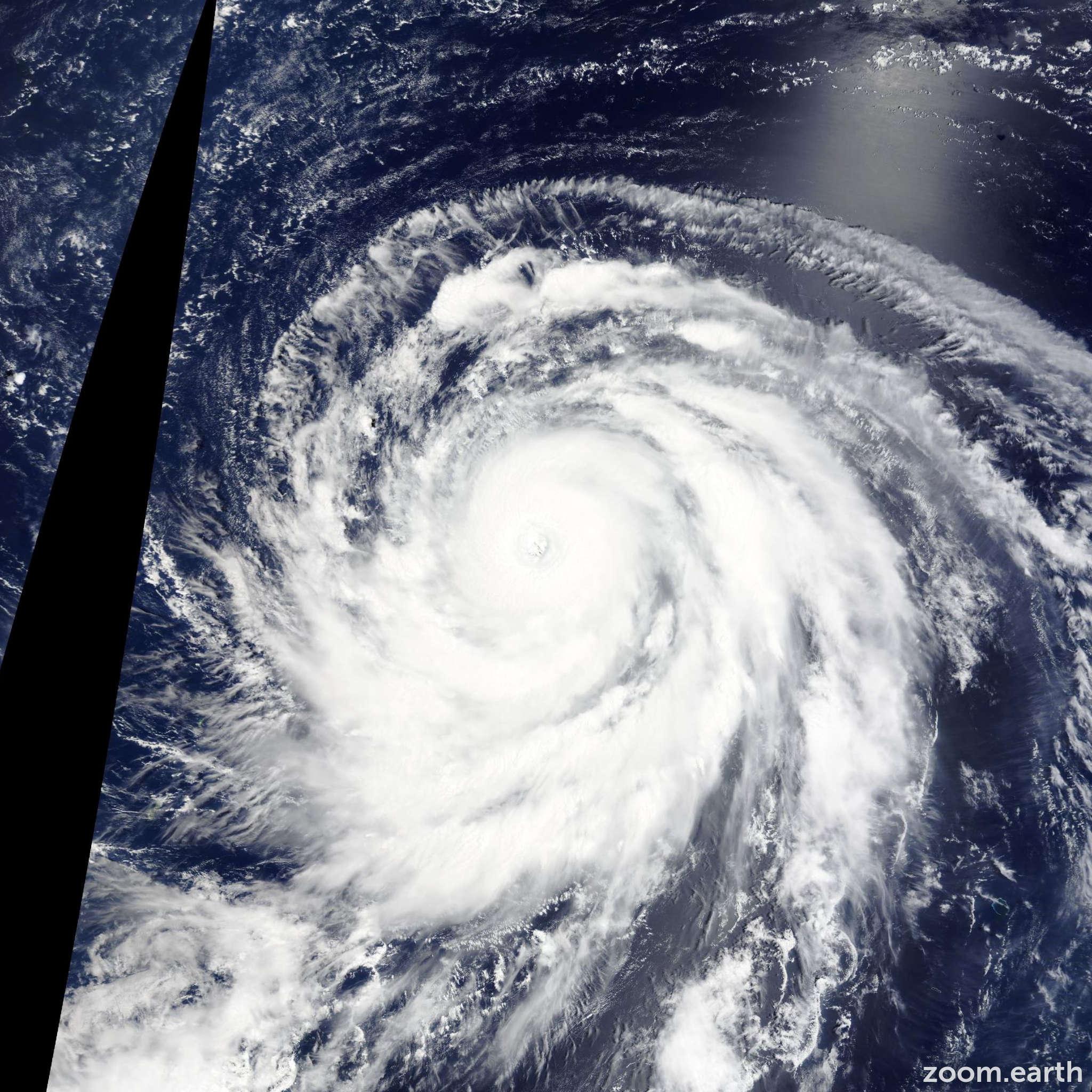 Satellite image of Typhoon Atsani 2015