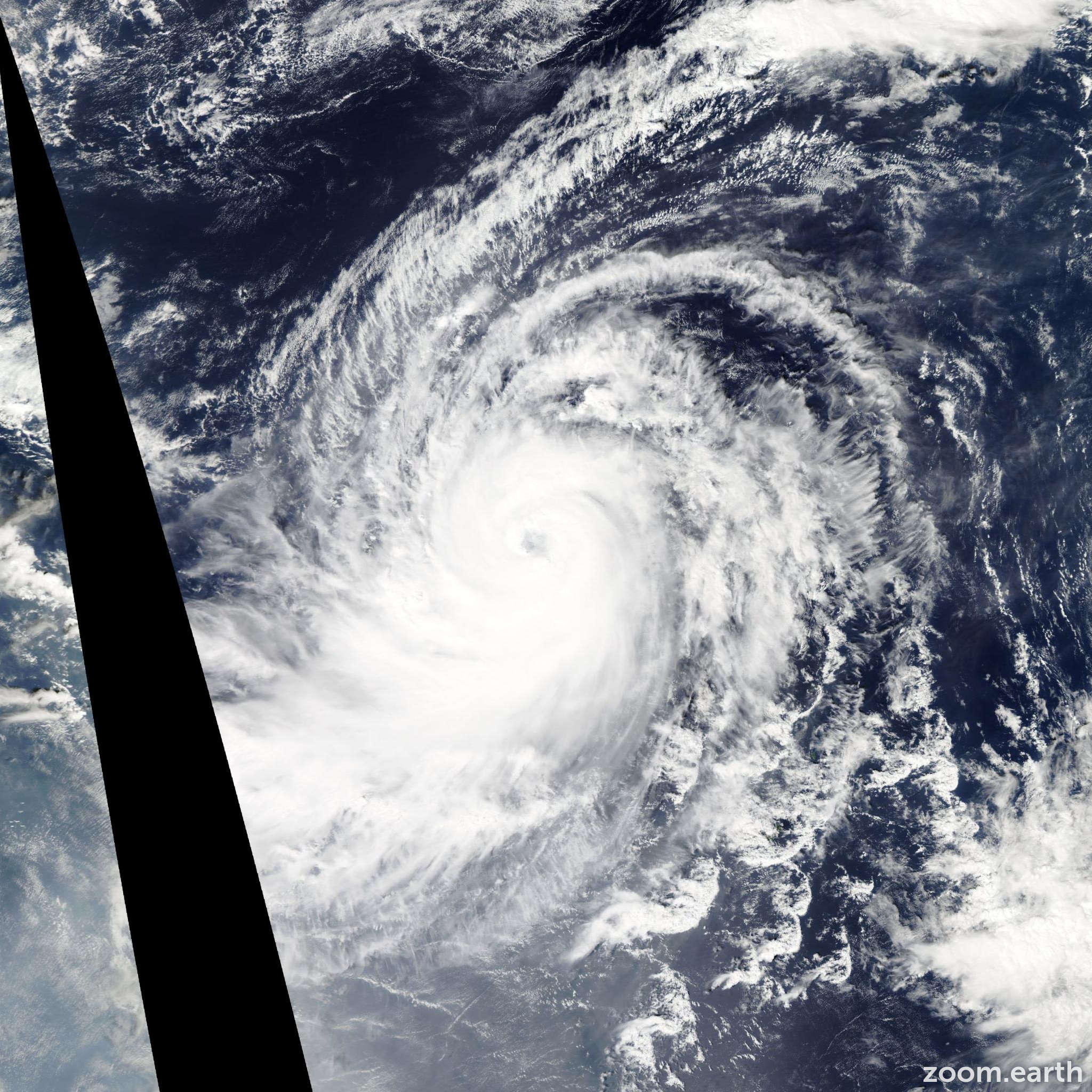 Satellite image of Typhoon Champi 2015