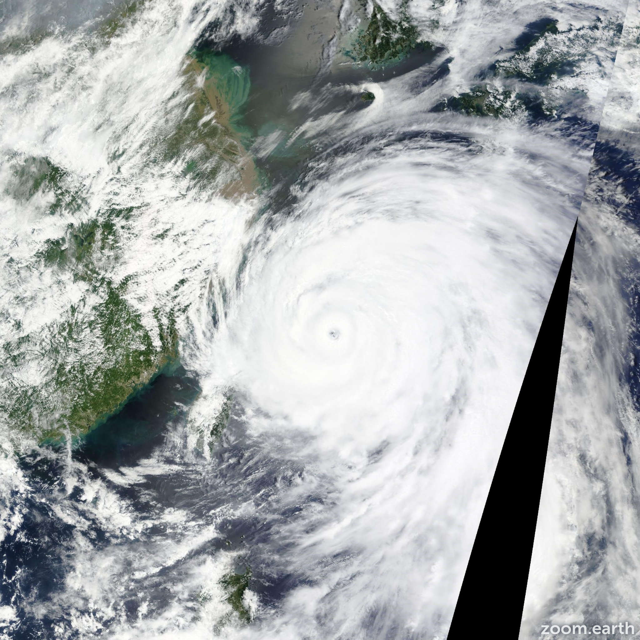 Satellite image of Typhoon Chan-Hom 2015