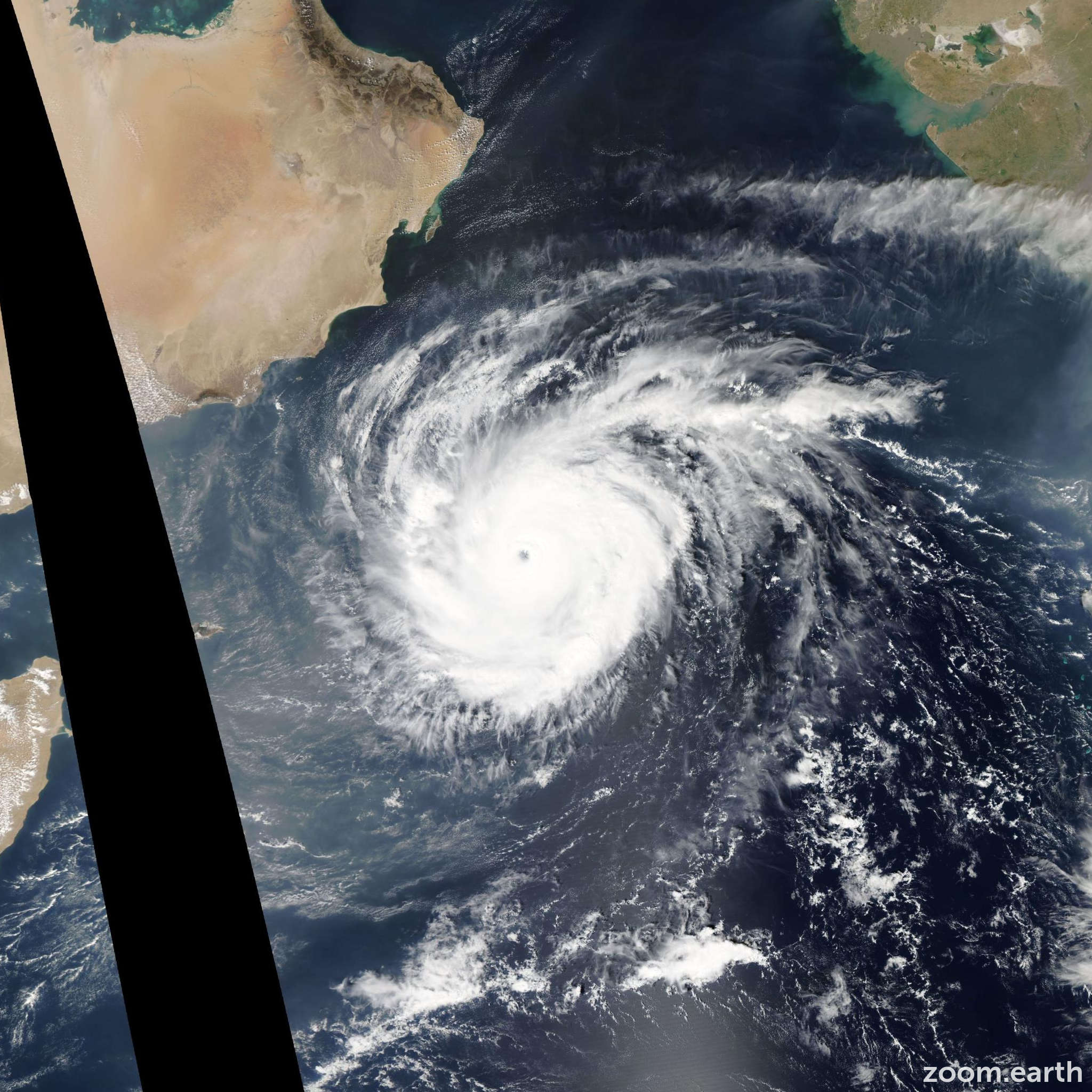 Satellite image of Cyclone Chapala 2015