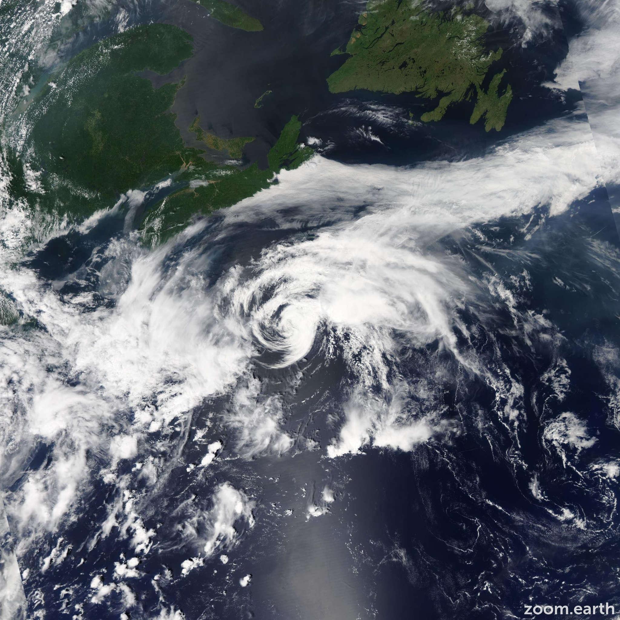 Satellite image of Storm Claudette 2015