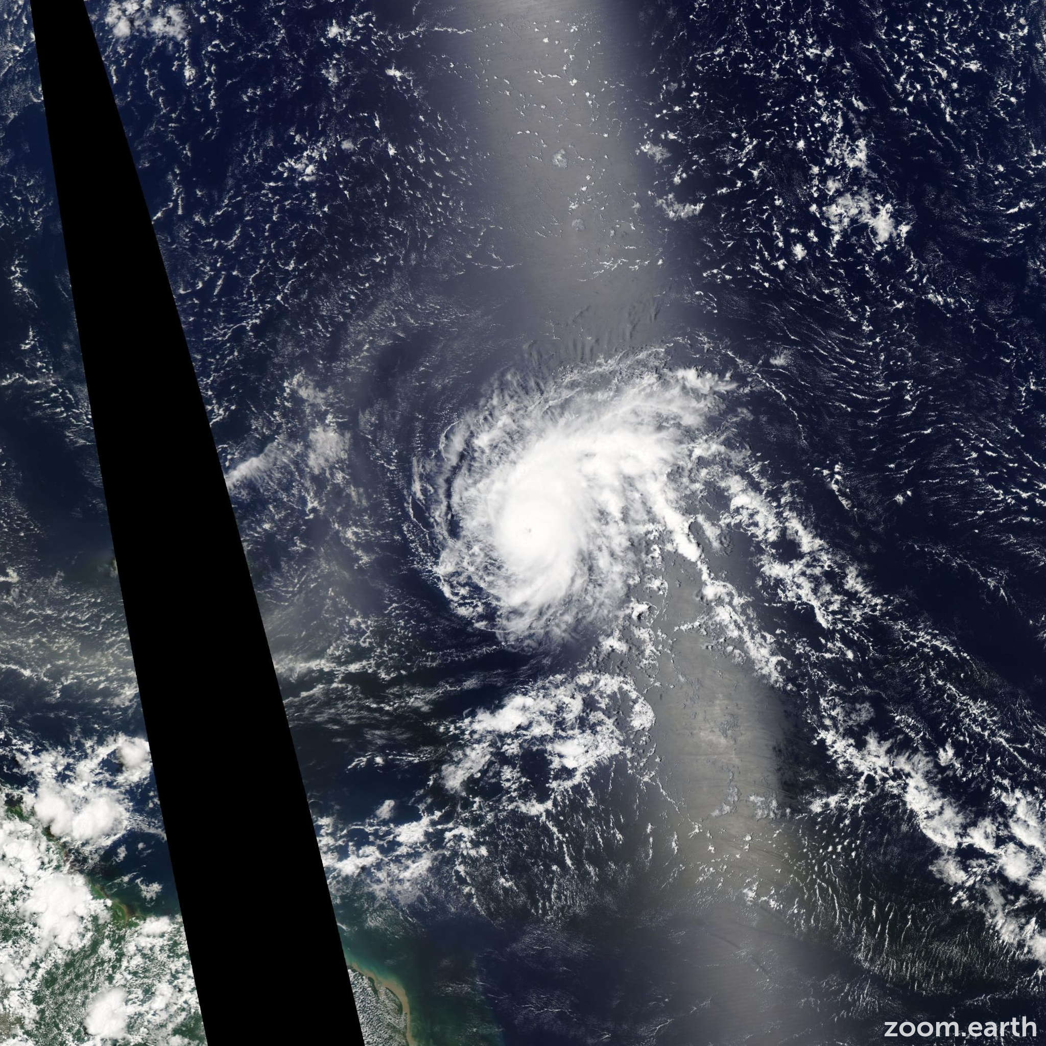 Satellite image of Hurricane Danny 2015