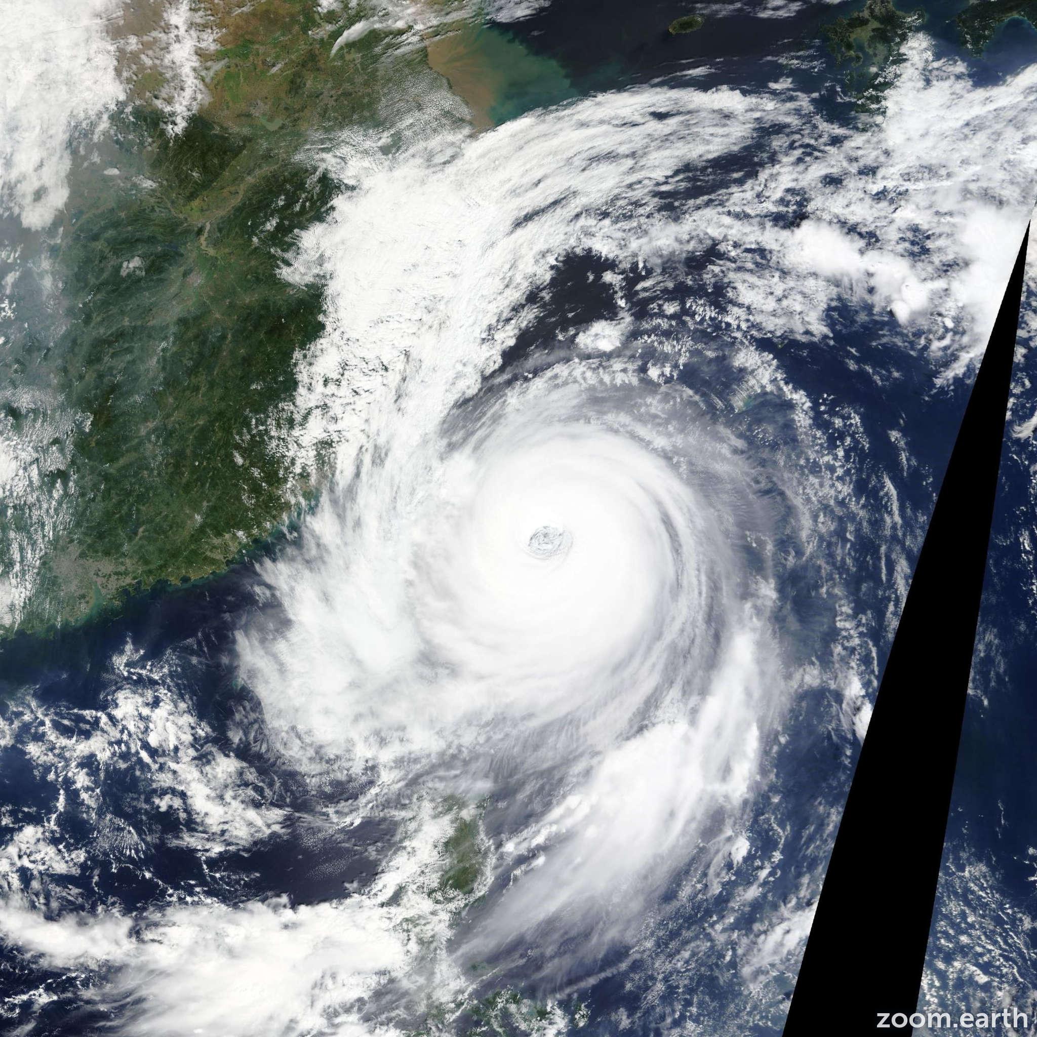 Satellite image of Typhoon Dujuan 2015