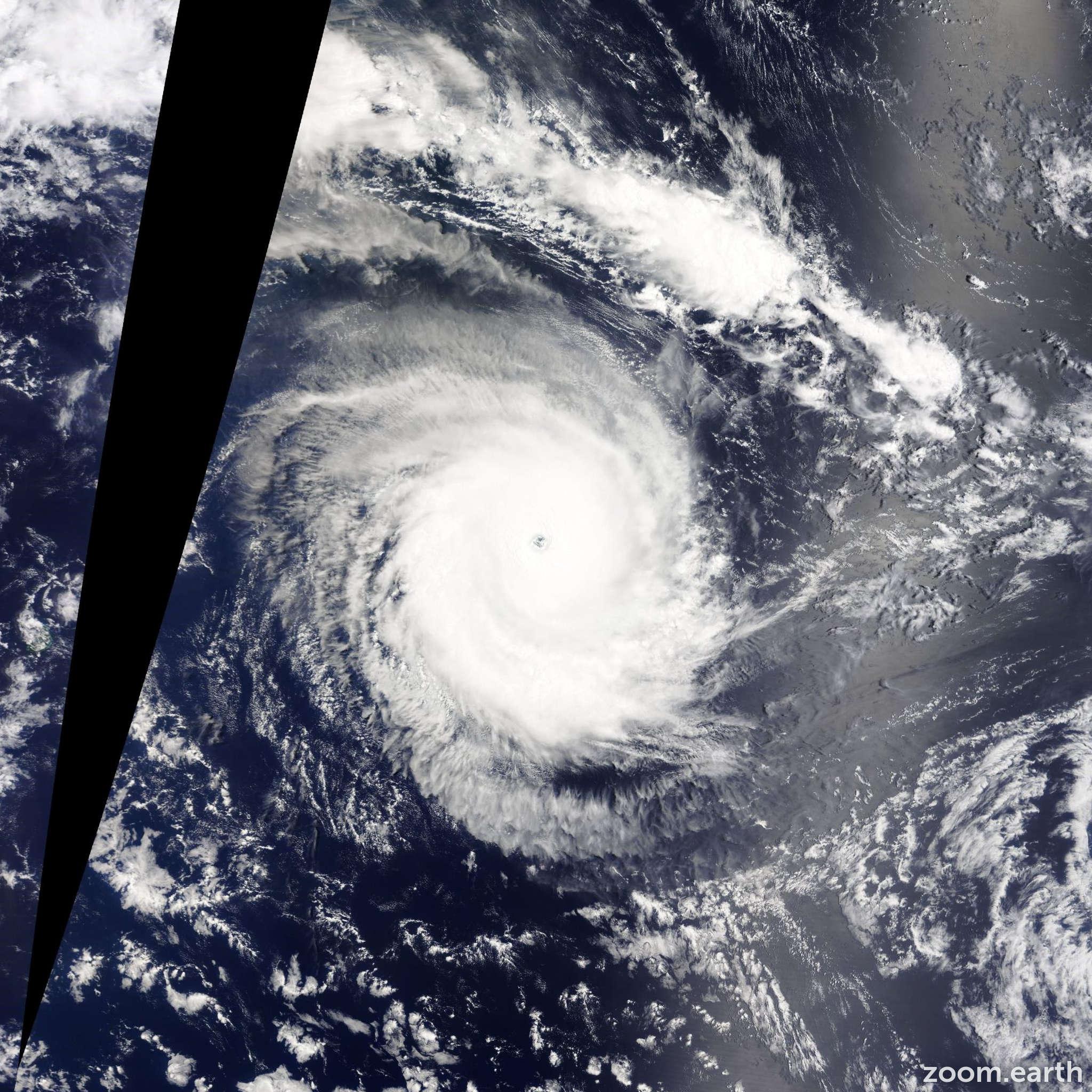 Satellite image of Cyclone Eunice 2015