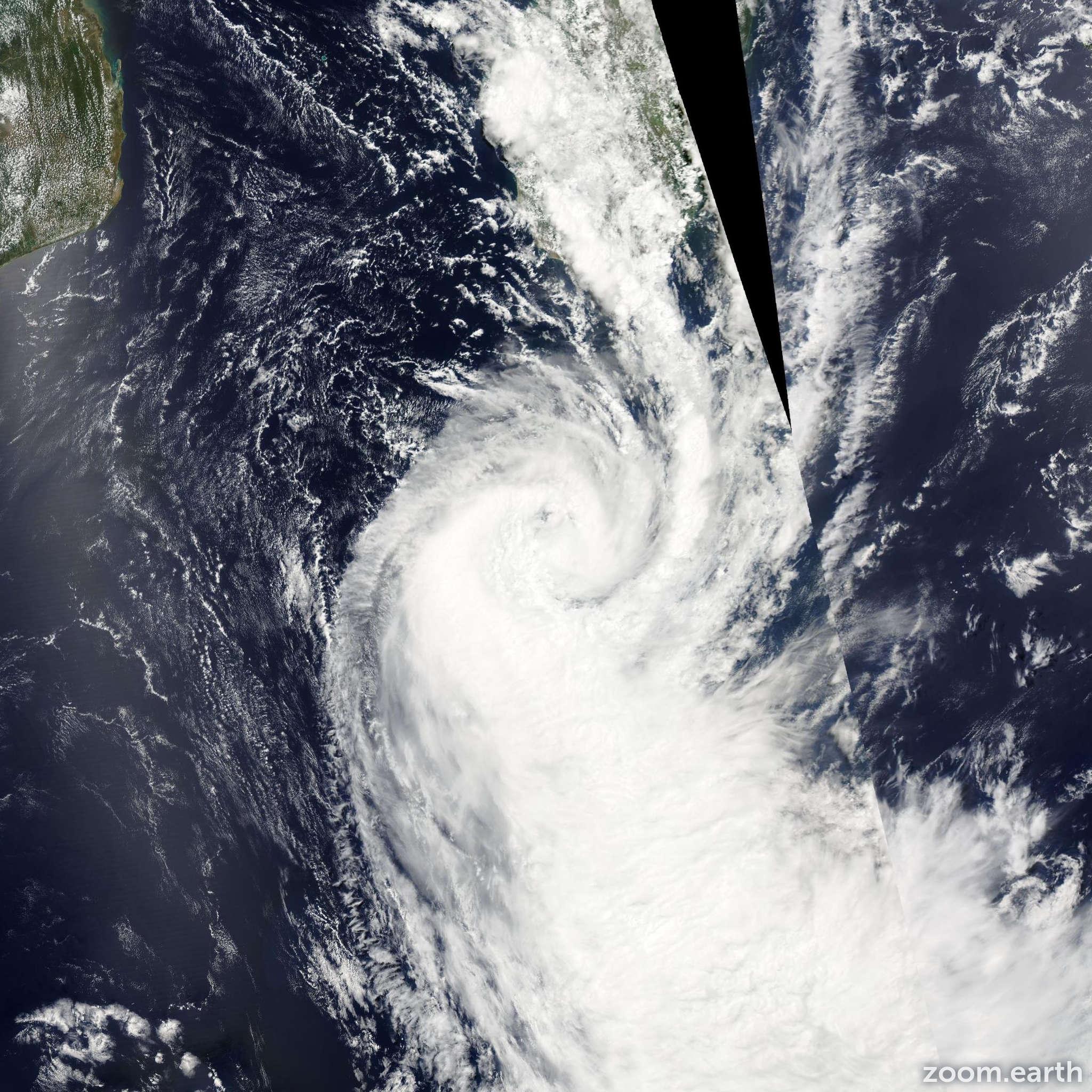 Satellite image of Storm Fundi 2015