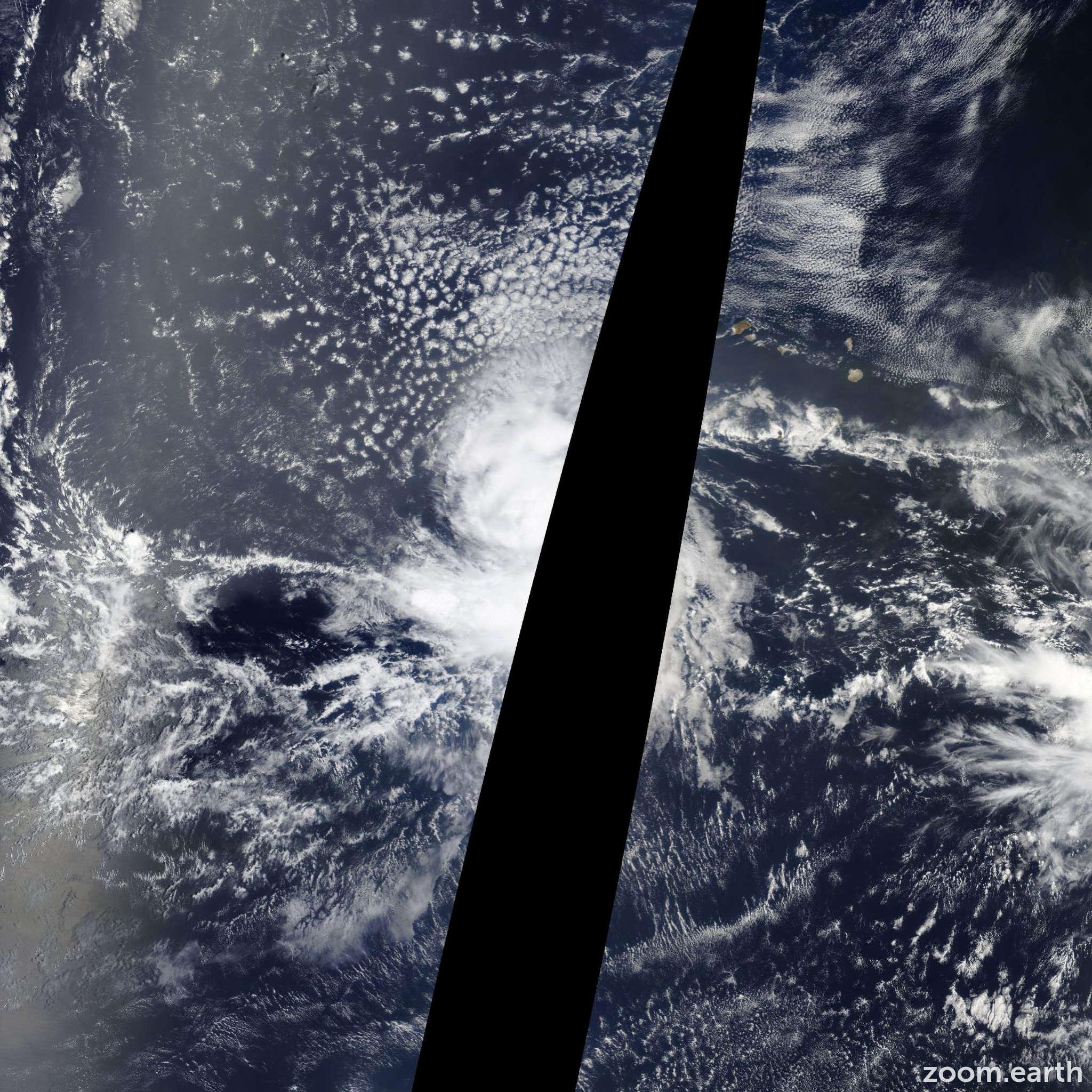 Satellite image of Storm Grace 2015