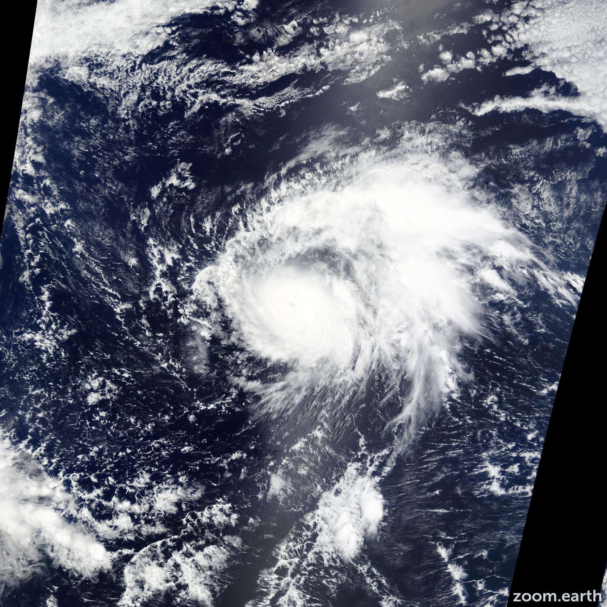 Satellite image of Hurricane Guillermo 2015
