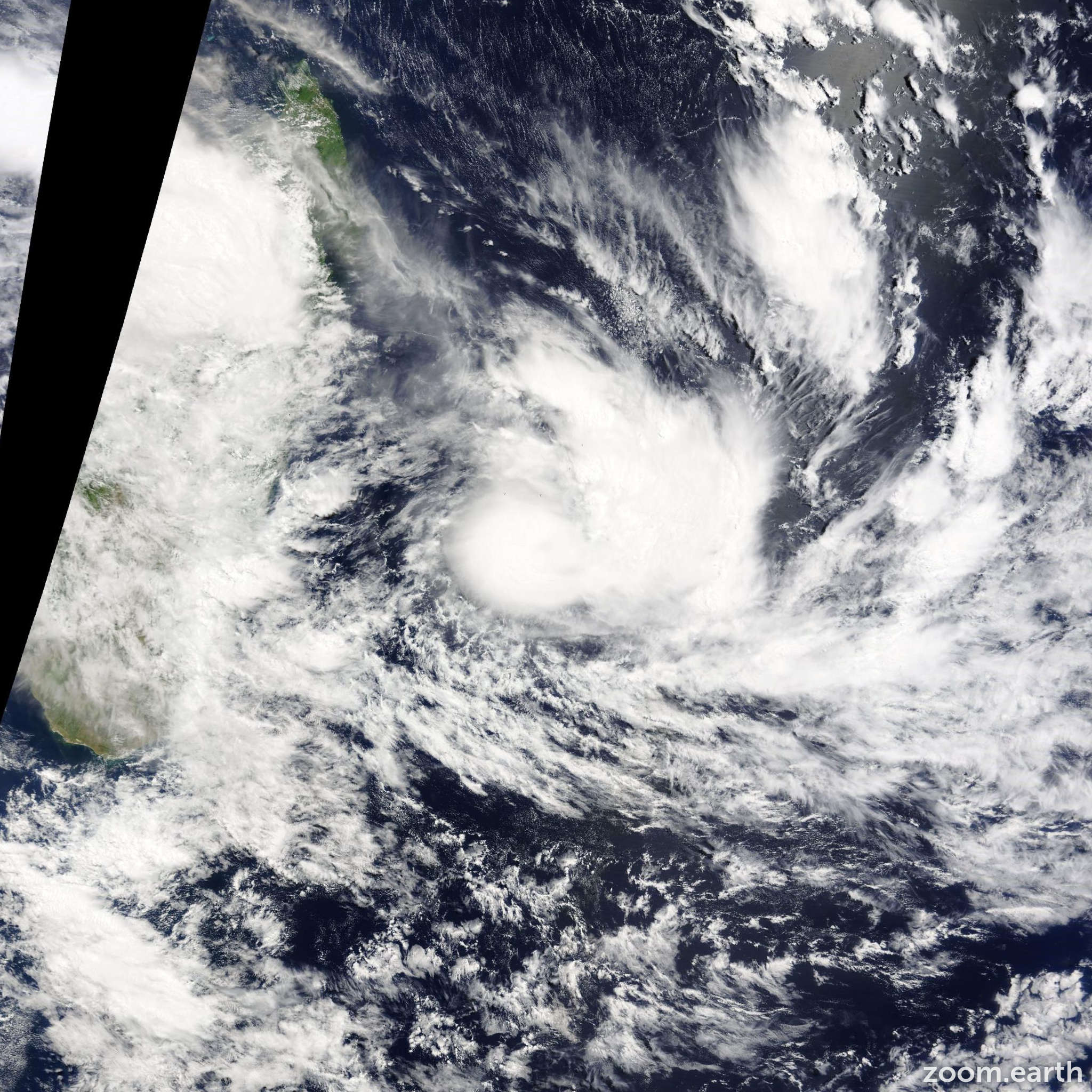 Satellite image of Storm Haliba 2015