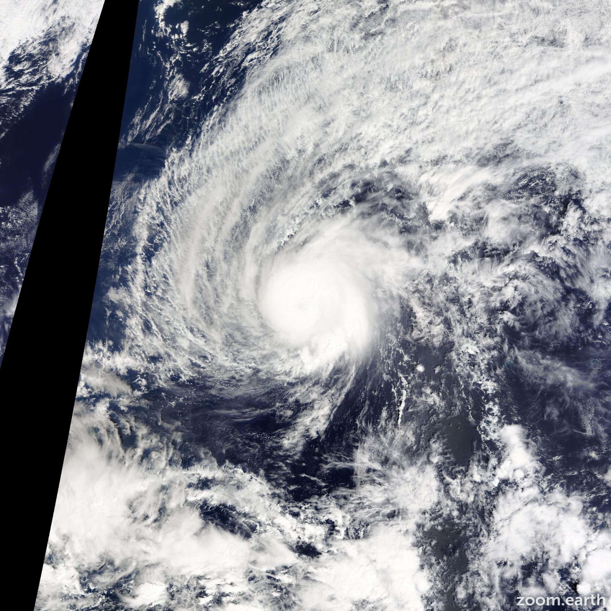 Satellite image of Typhoon Higos 2015