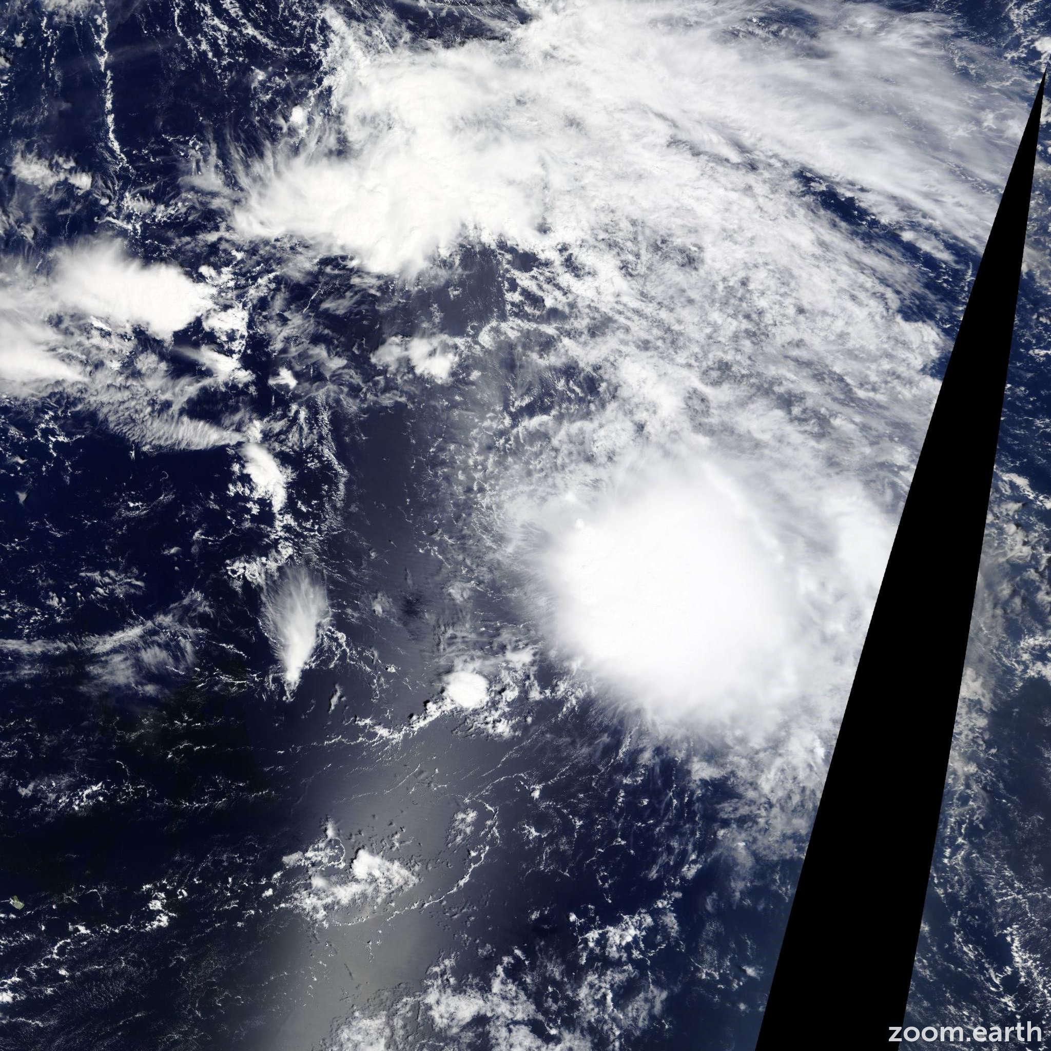 Satellite image of Storm Ida 2015