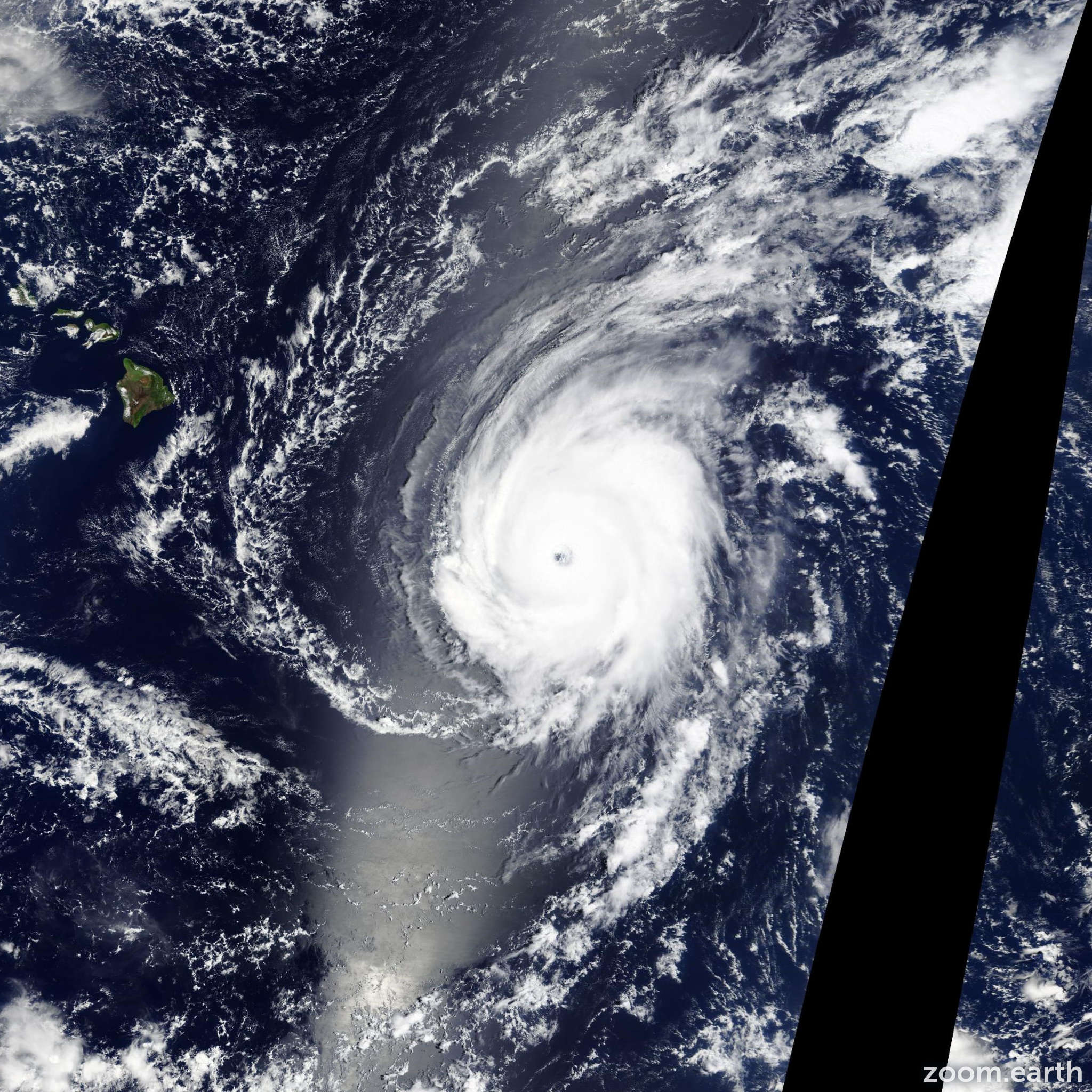 Satellite image of Hurricane Ignacio 2015