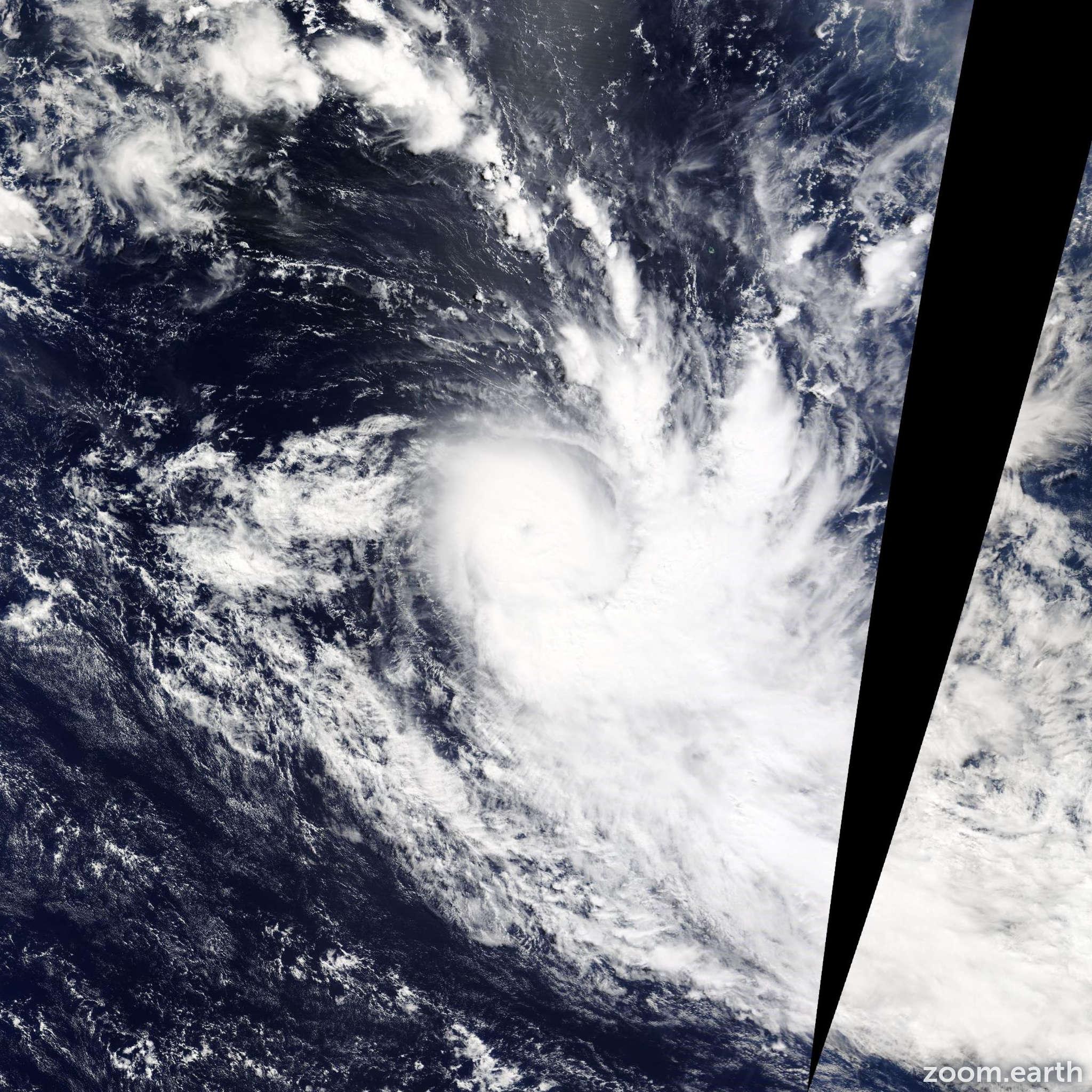 Satellite image of Cyclone Ikola 2015