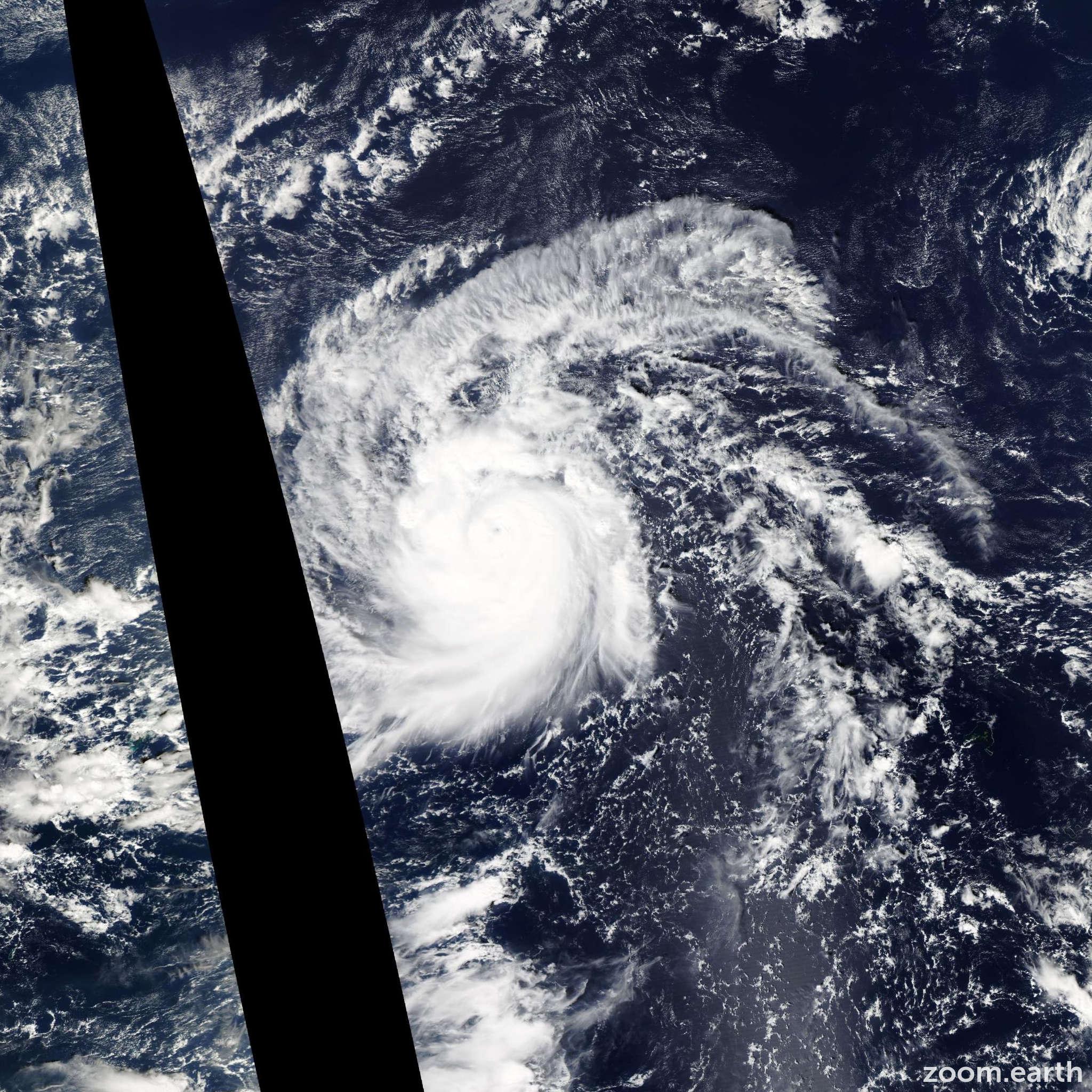 Satellite image of Typhoon In-Fa 2015