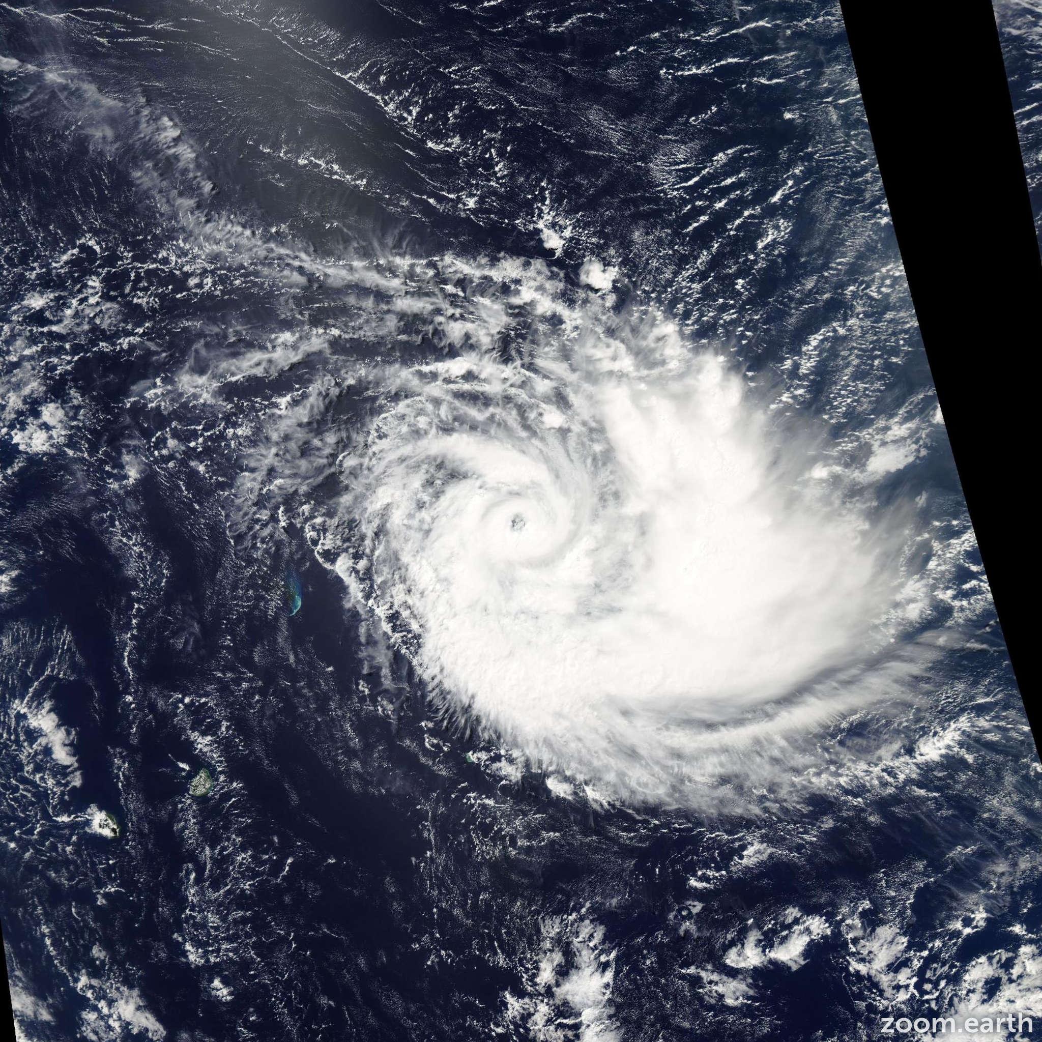 Satellite image of Cyclone Joalane 2015