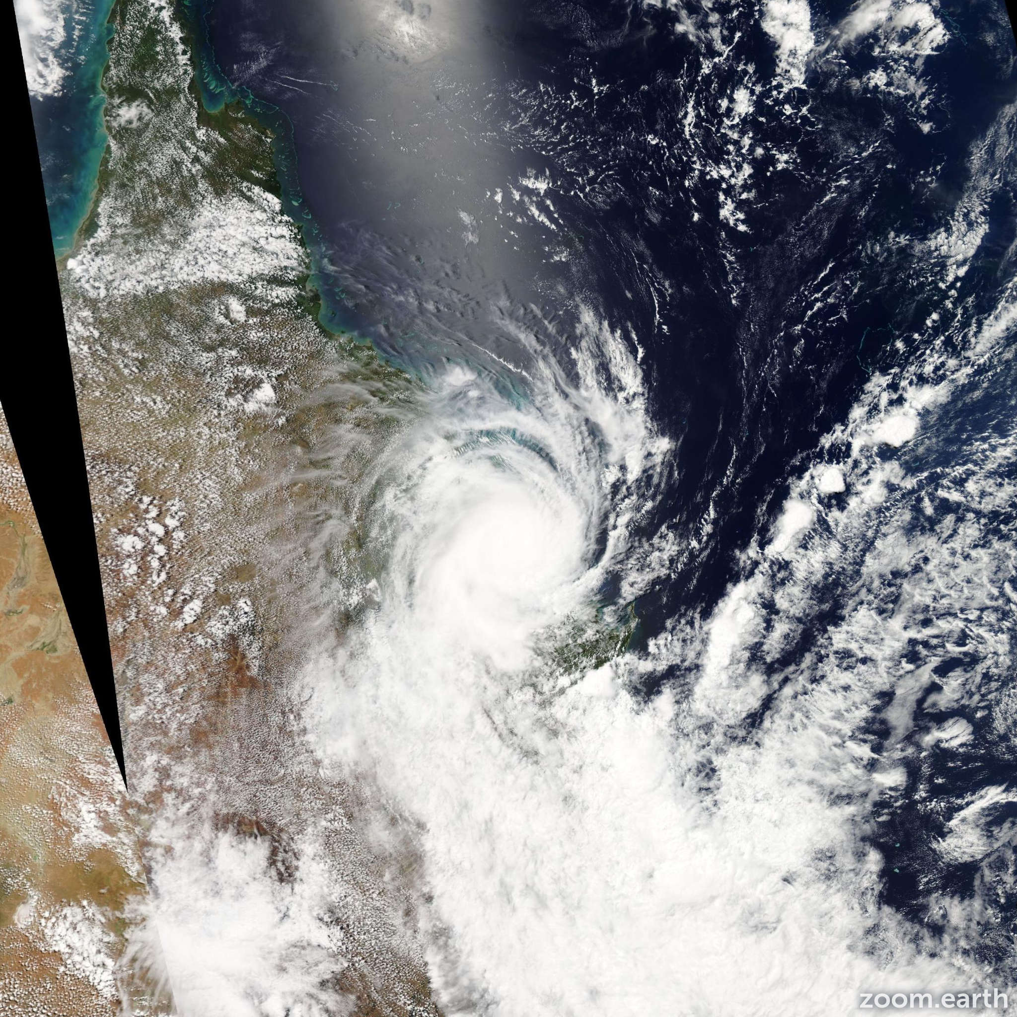 Satellite image of Cyclone Marcia 2015