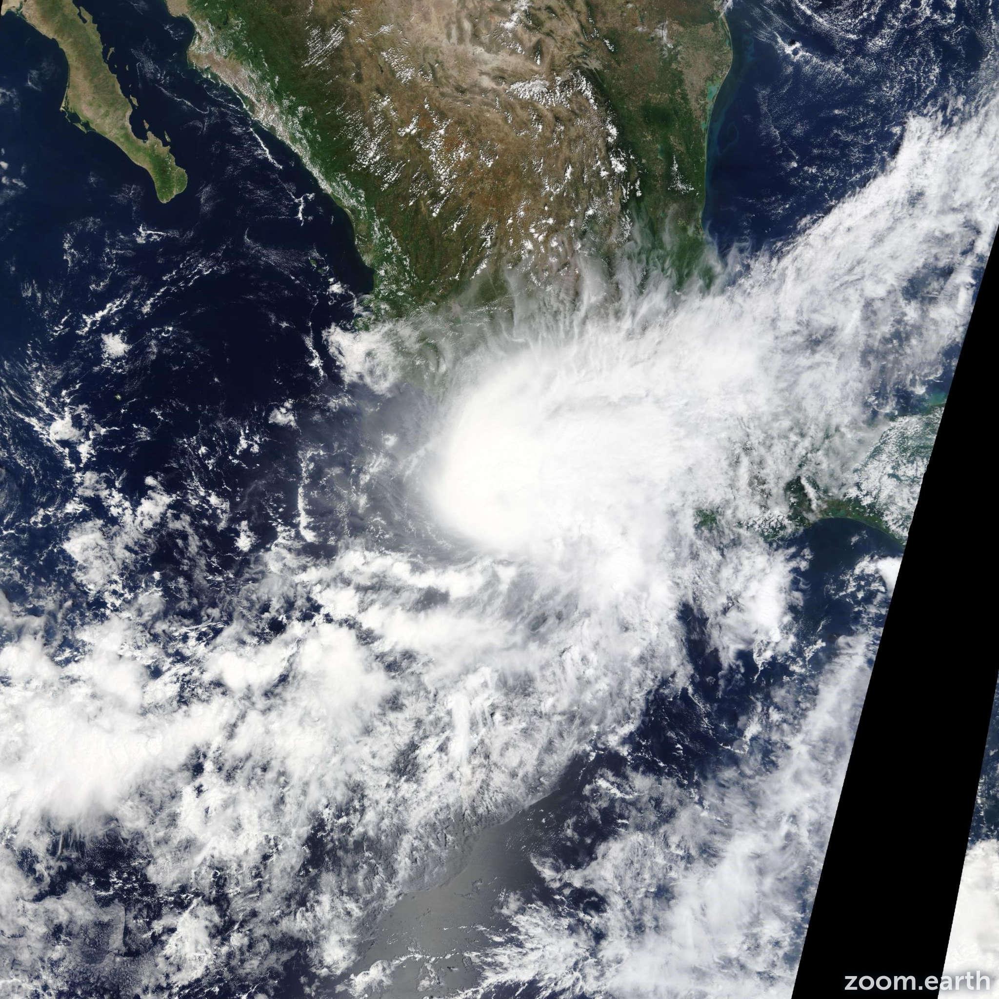 Satellite image of Hurricane Marty 2015