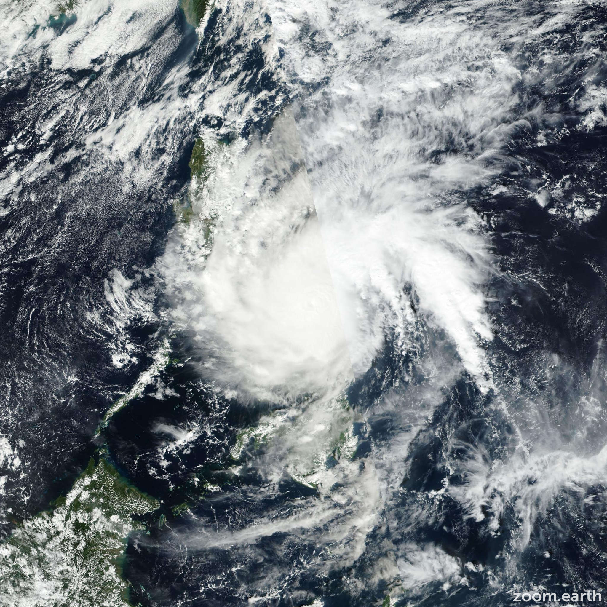Satellite image of Typhoon Melor 2015