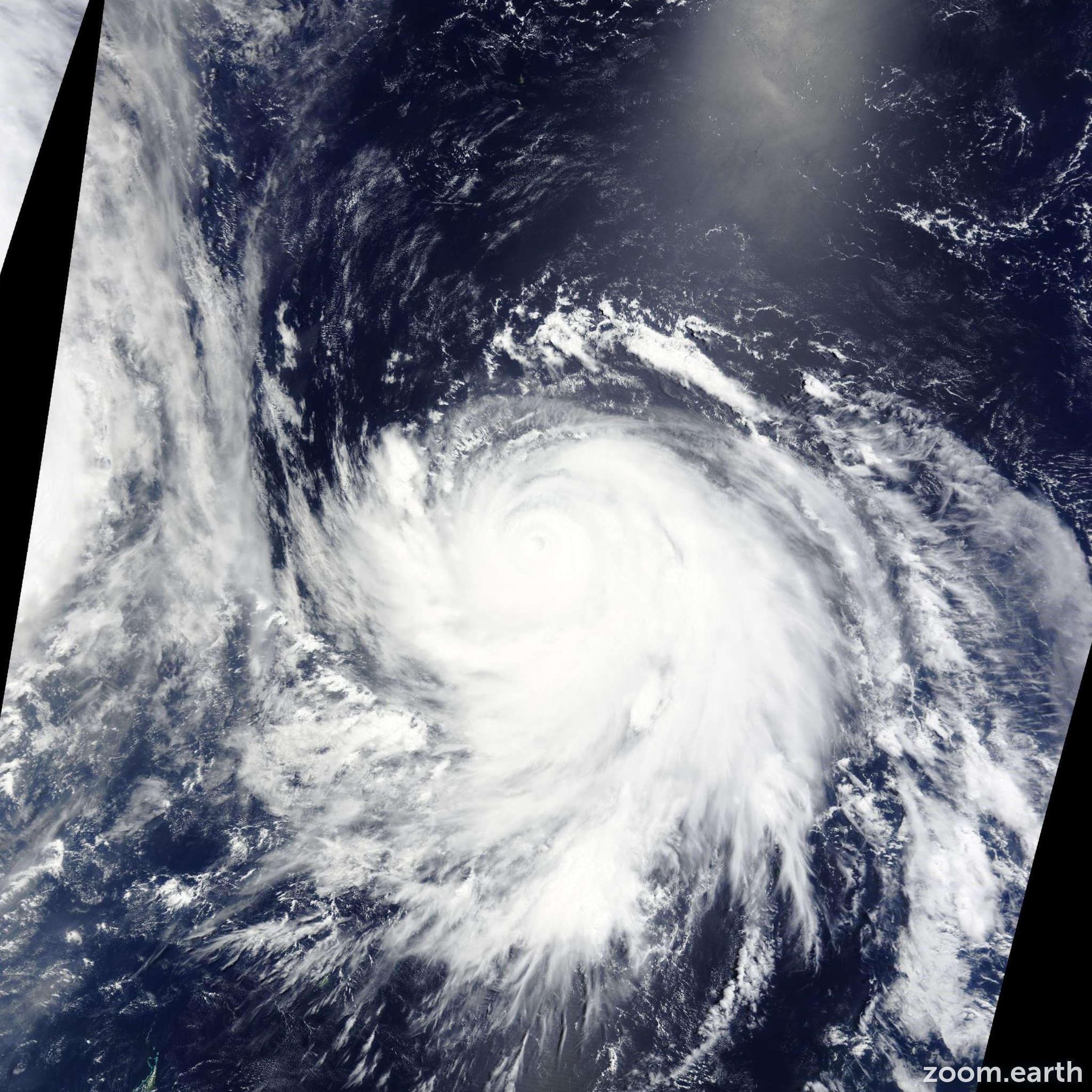 Satellite image of Typhoon Nangka 2015