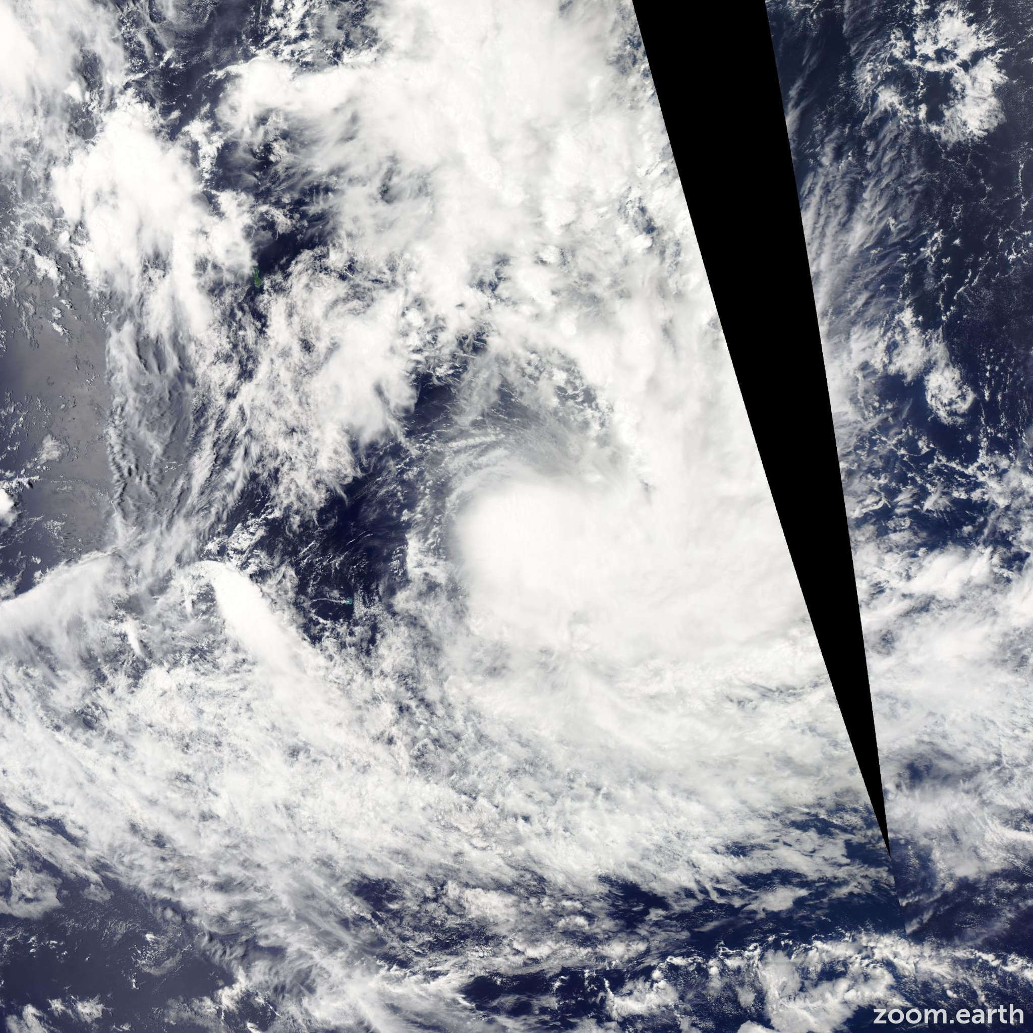 Satellite image of Cyclone Niko 2015