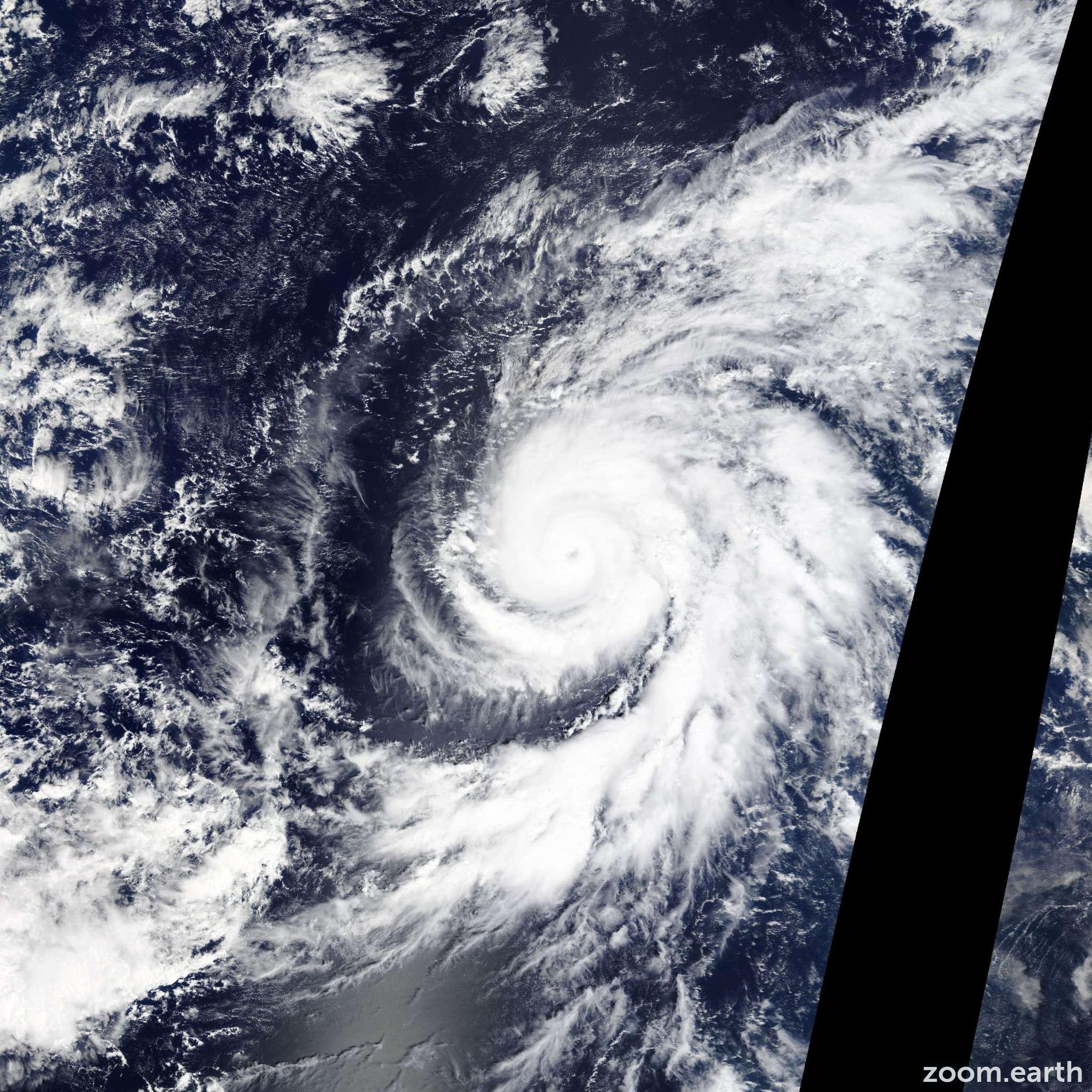 Satellite image of Hurricane Olaf 2015