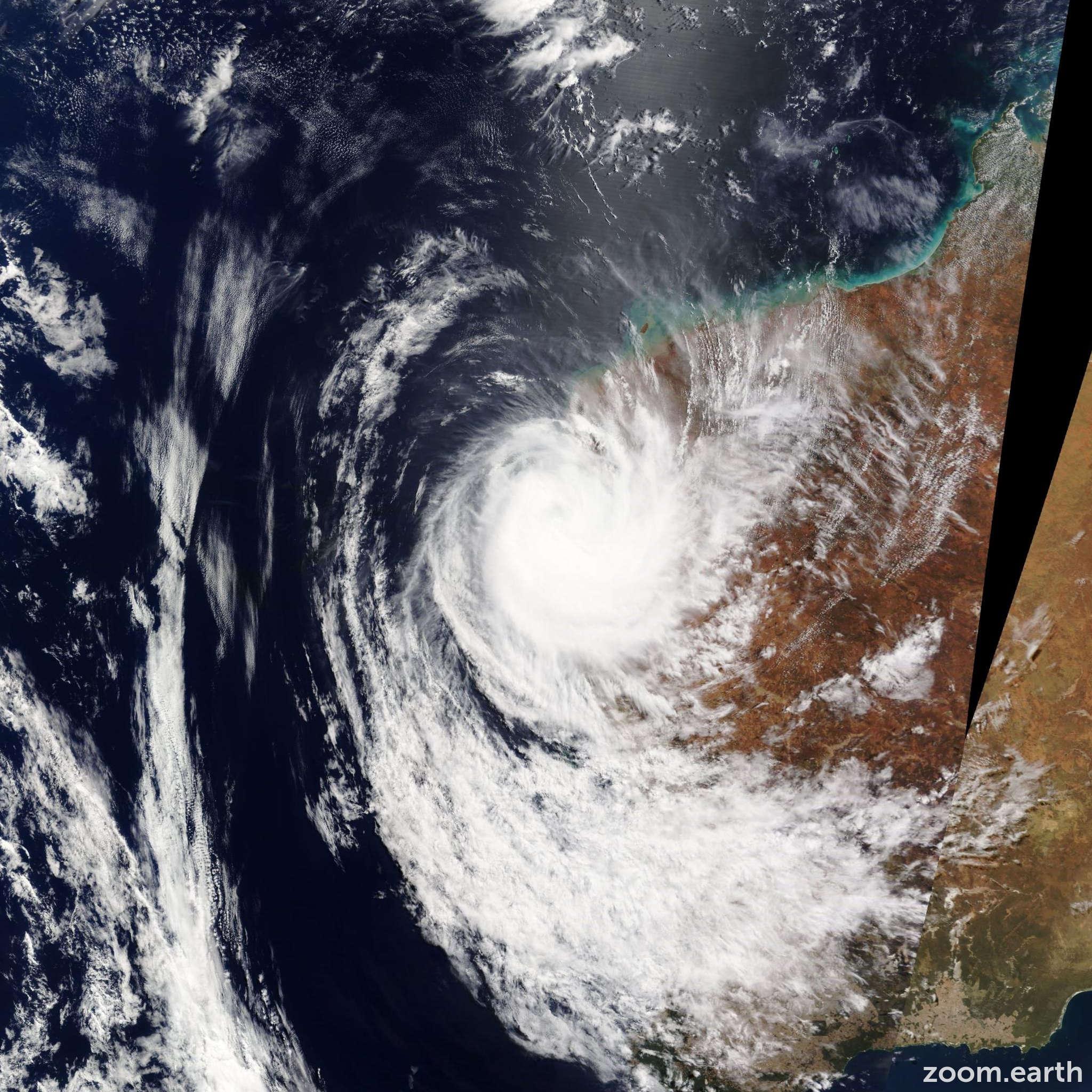 Satellite image of Cyclone Olwyn 2015