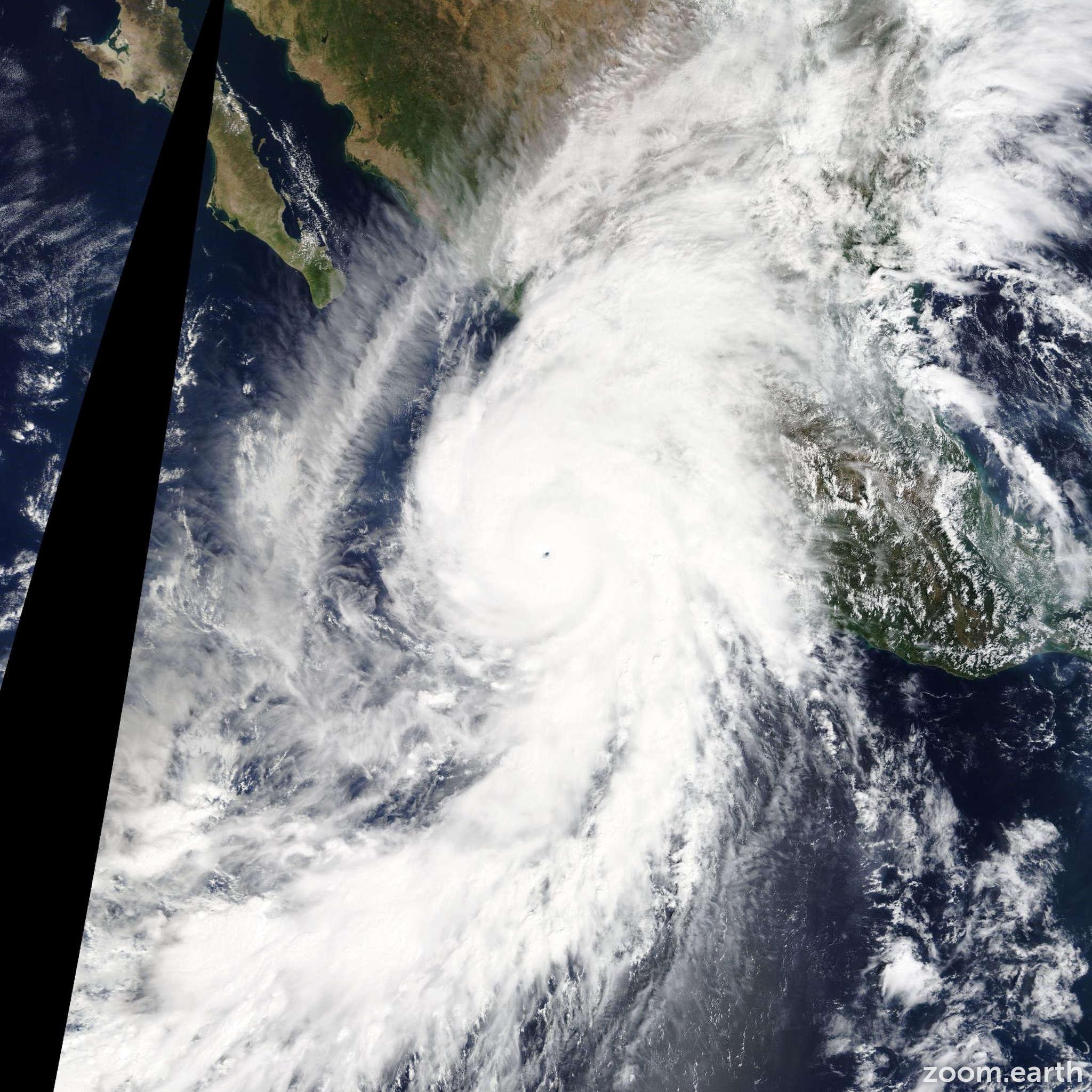 Satellite image of Hurricane Patricia 2015