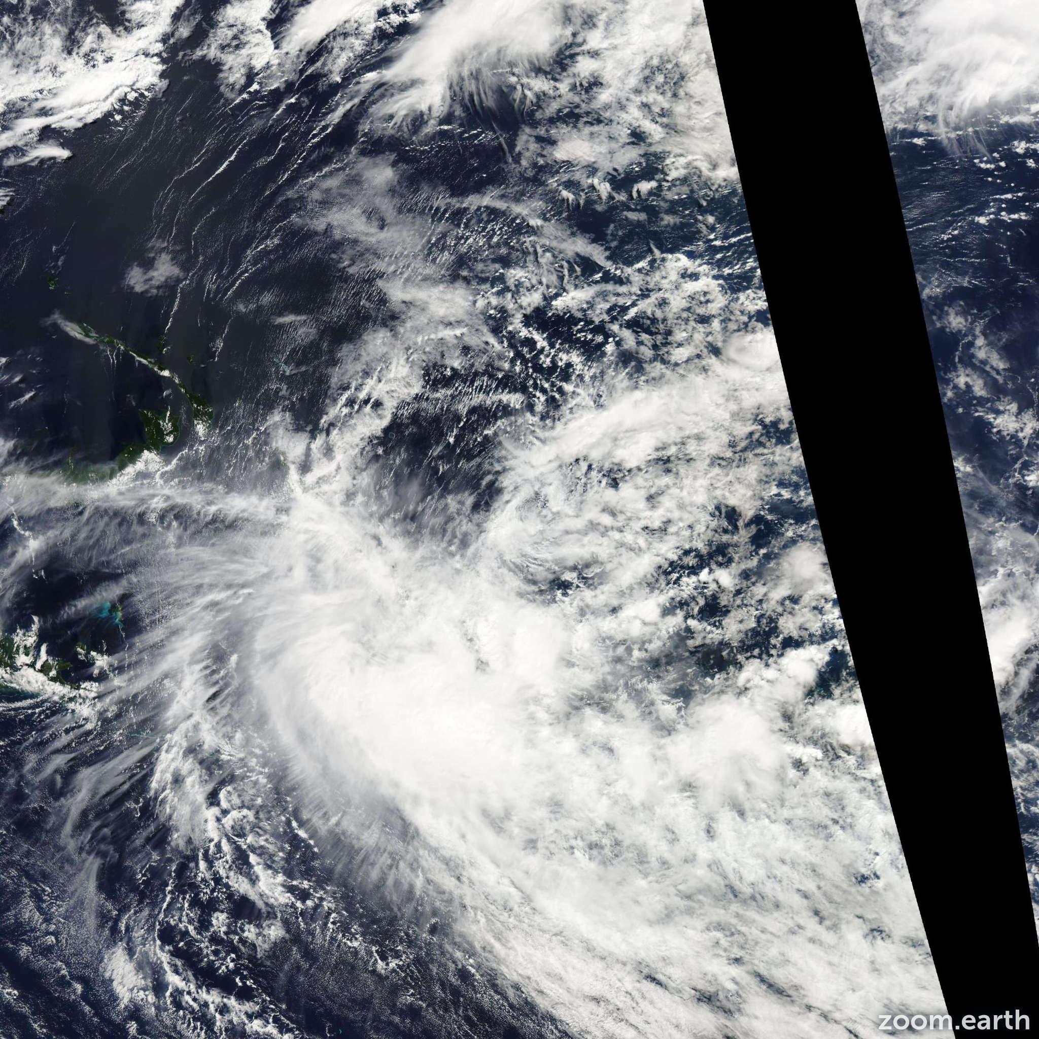 Satellite image of Cyclone Raquel 2015