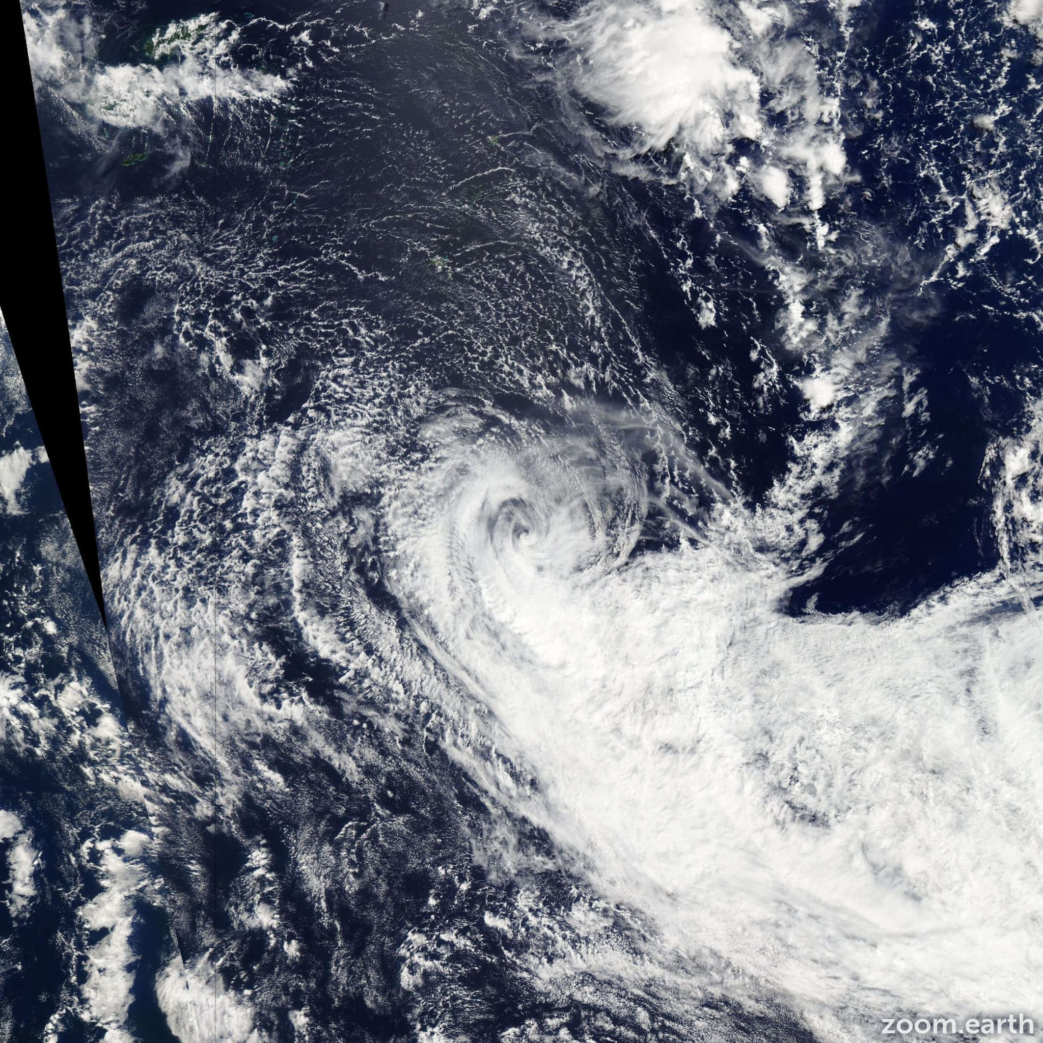 Satellite image of Cyclone Reuben 2015