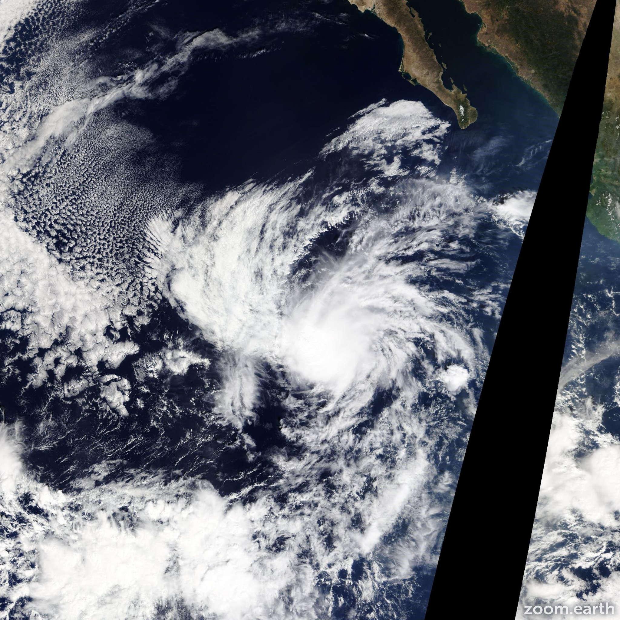 Satellite image of Storm Rick 2015