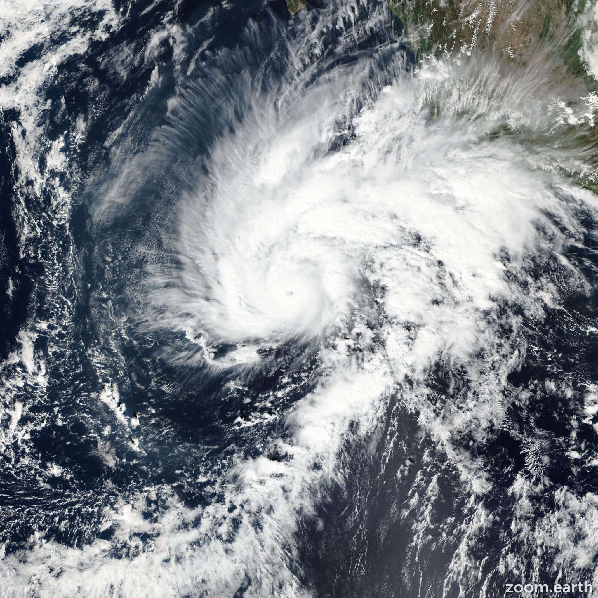 Satellite image of Hurricane Sandra 2015