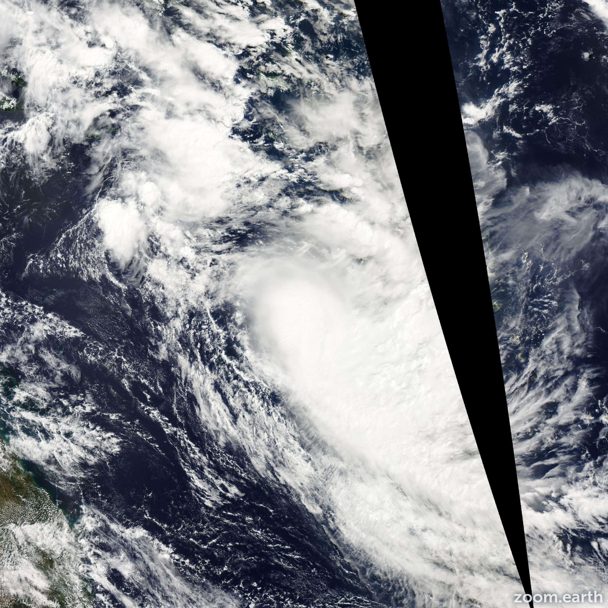 Satellite image of Cyclone Solo 2015