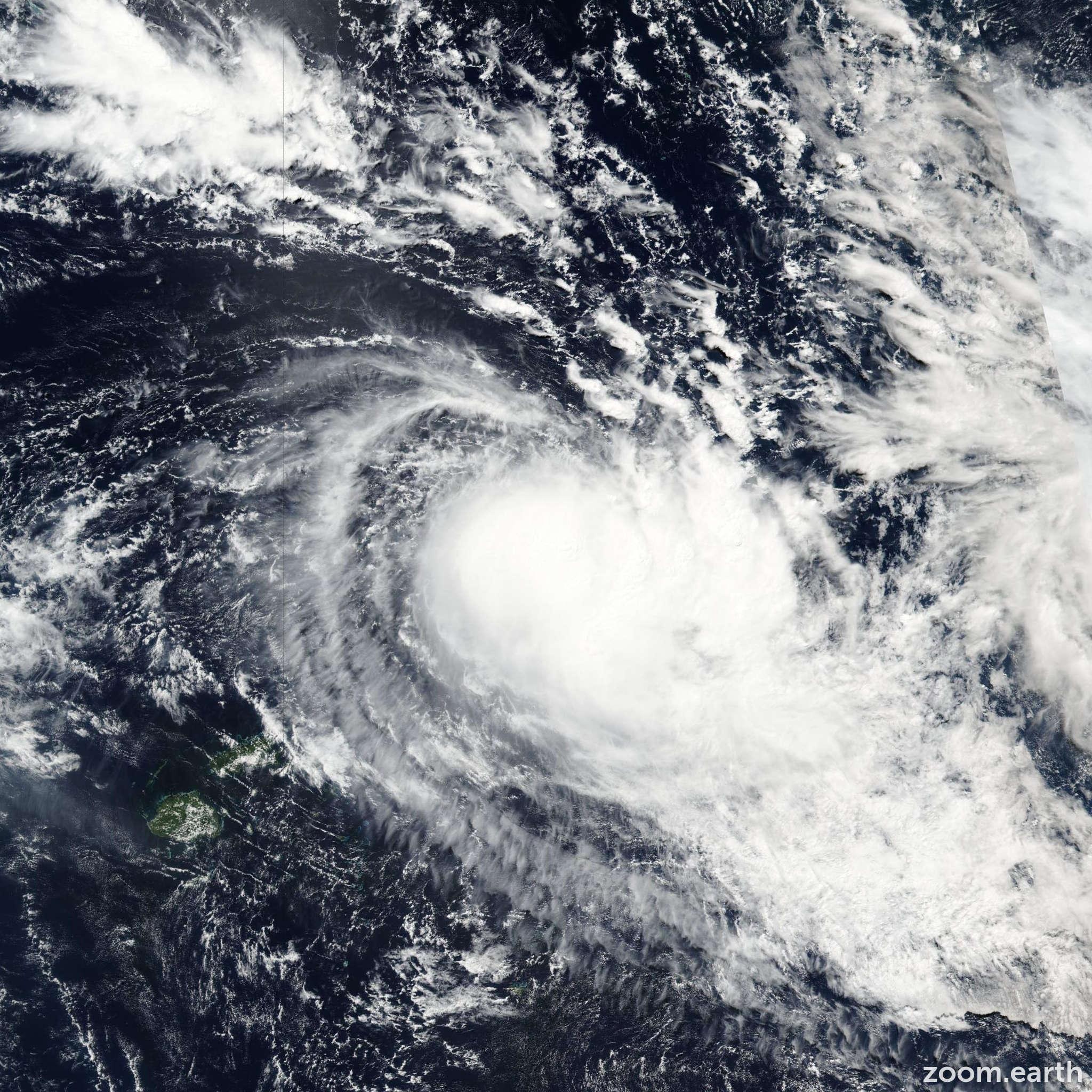 Satellite image of Cyclone Amos 2016