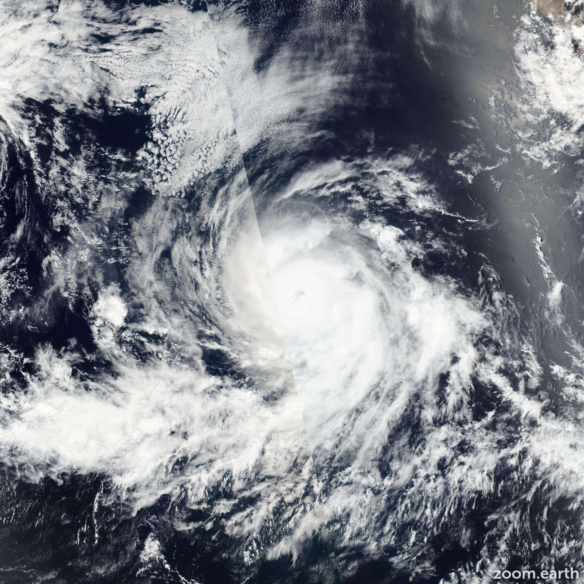 Satellite image of Hurricane Blas 2016