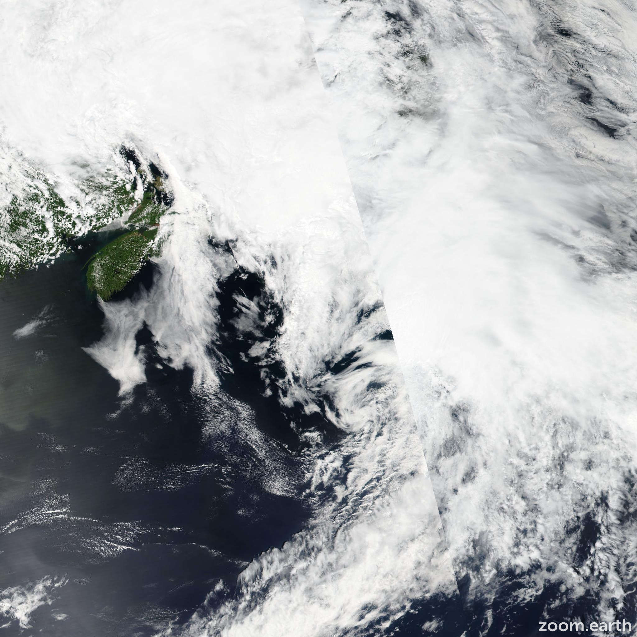Satellite image of Storm Colin 2016