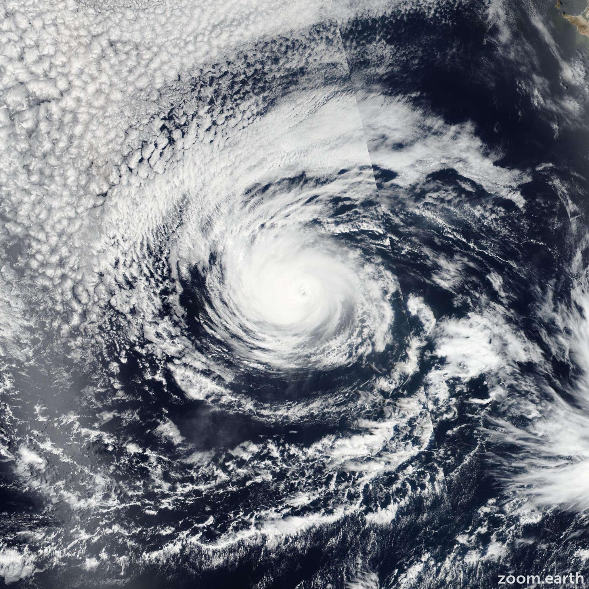 Satellite image of Hurricane Darby 2016