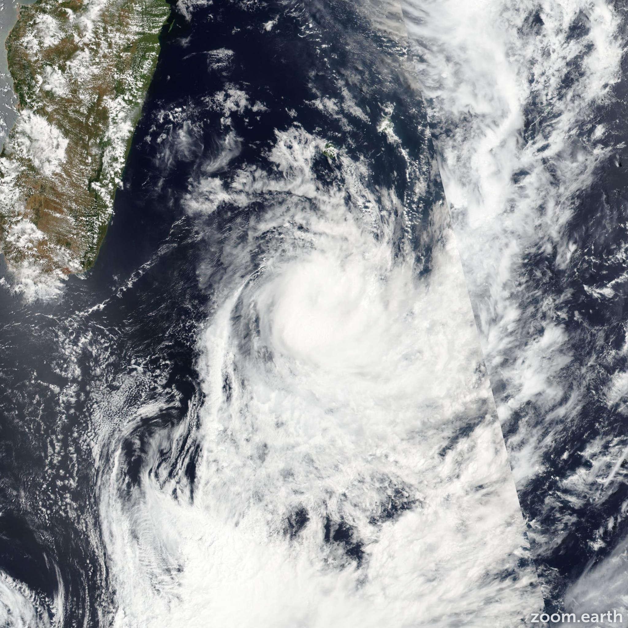 Satellite image of Storm Daya 2016