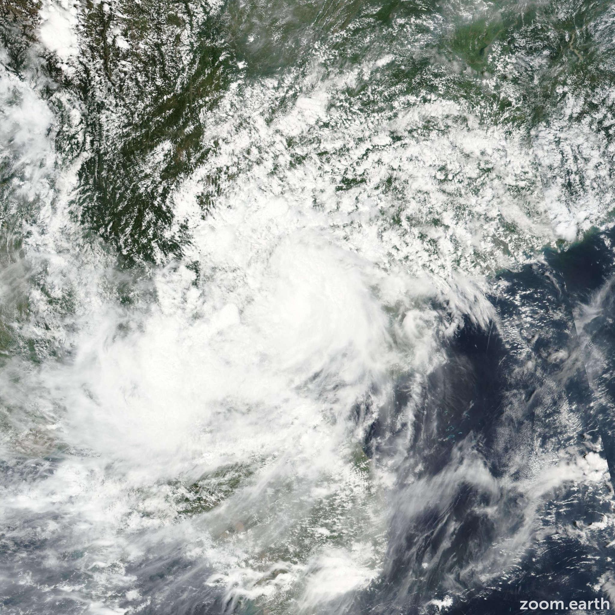 Satellite image of Storm Dianmu 2016