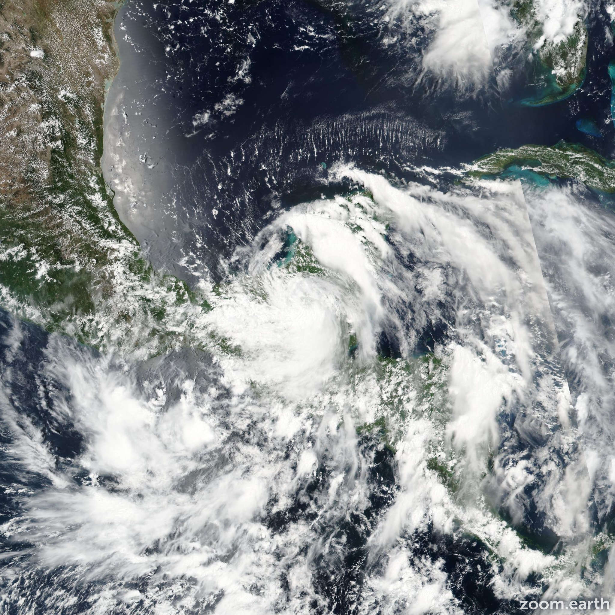 Satellite image of Hurricane Earl 2016