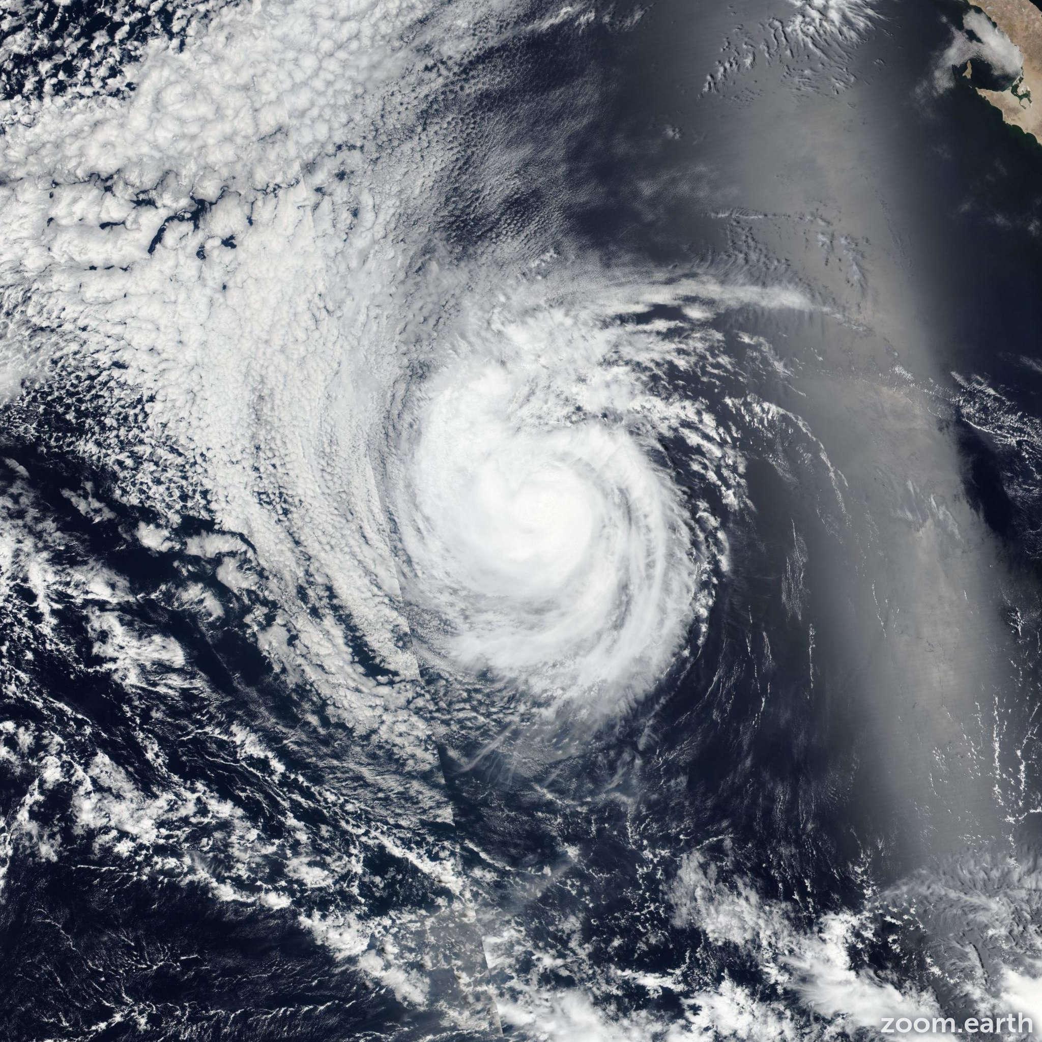 Satellite image of Storm Estelle 2016