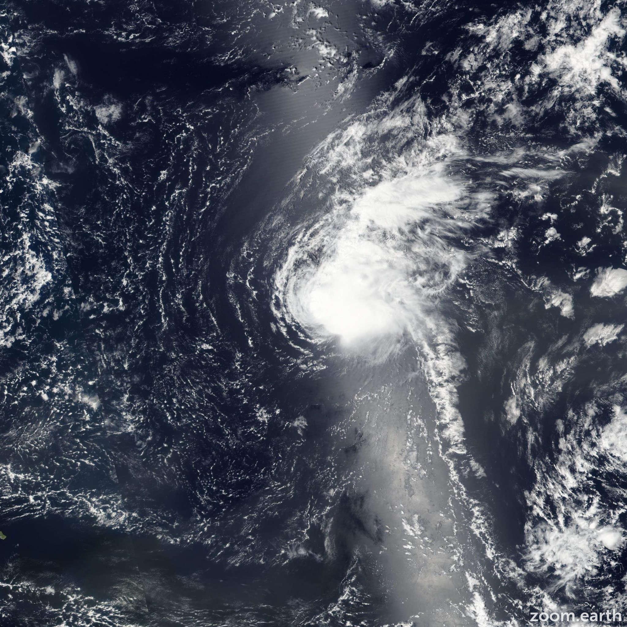 Satellite image of Storm Fiona 2016
