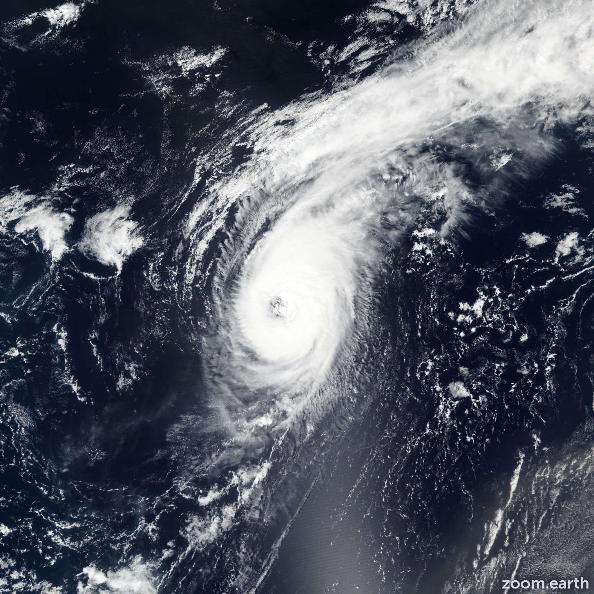 Satellite image of Hurricane Gaston 2016