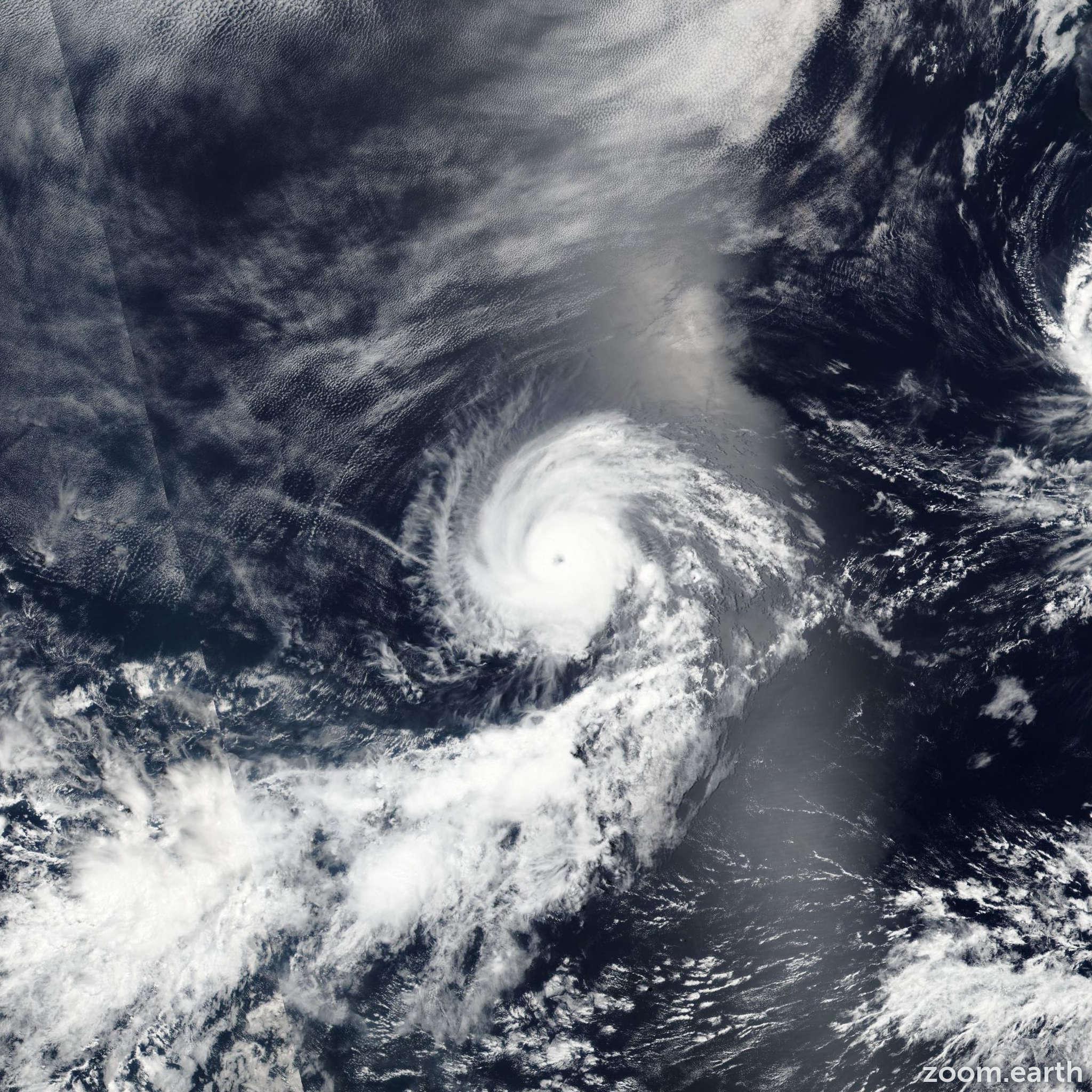 Satellite image of Hurricane Georgette 2016
