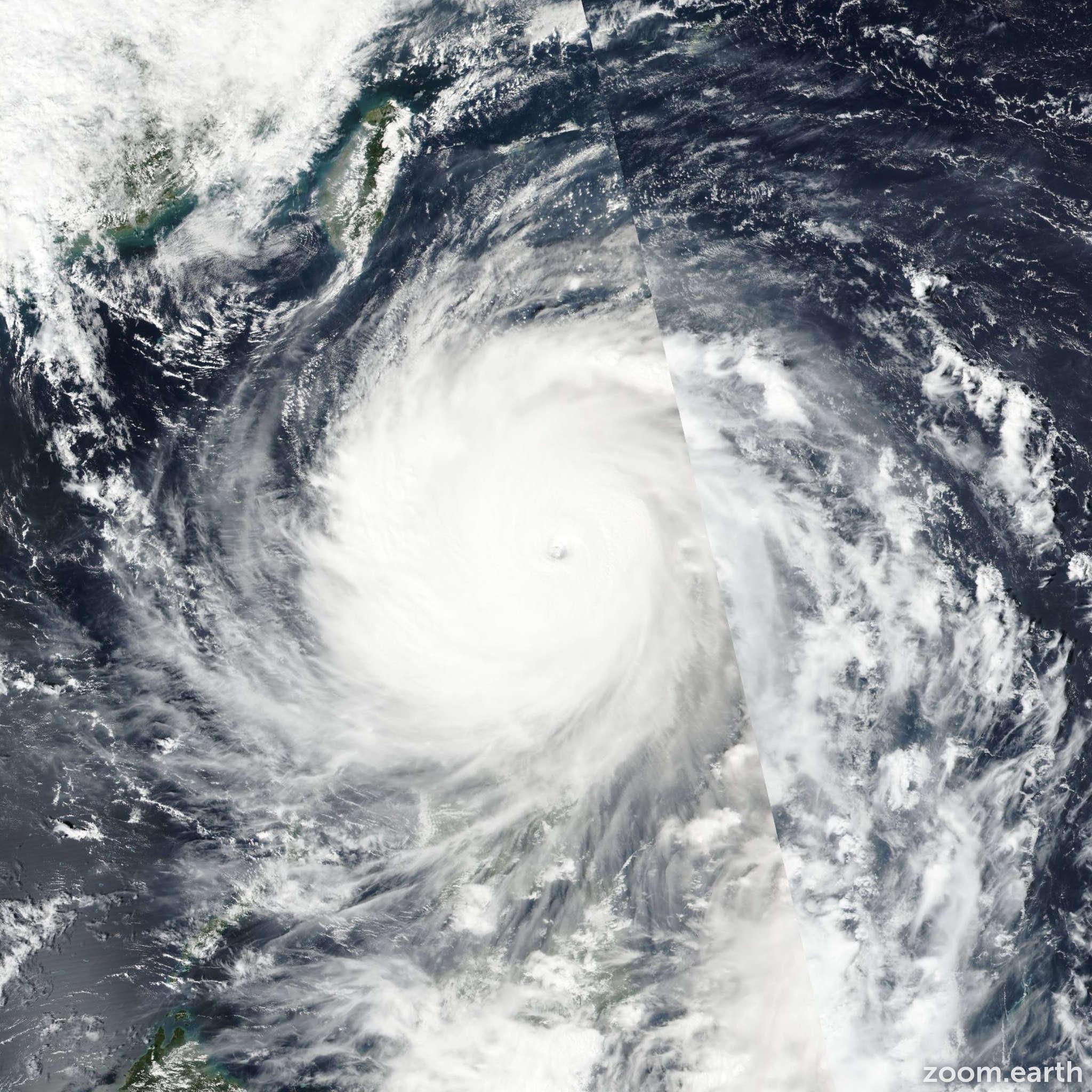 Satellite image of Typhoon Haima (Lawin) 2016