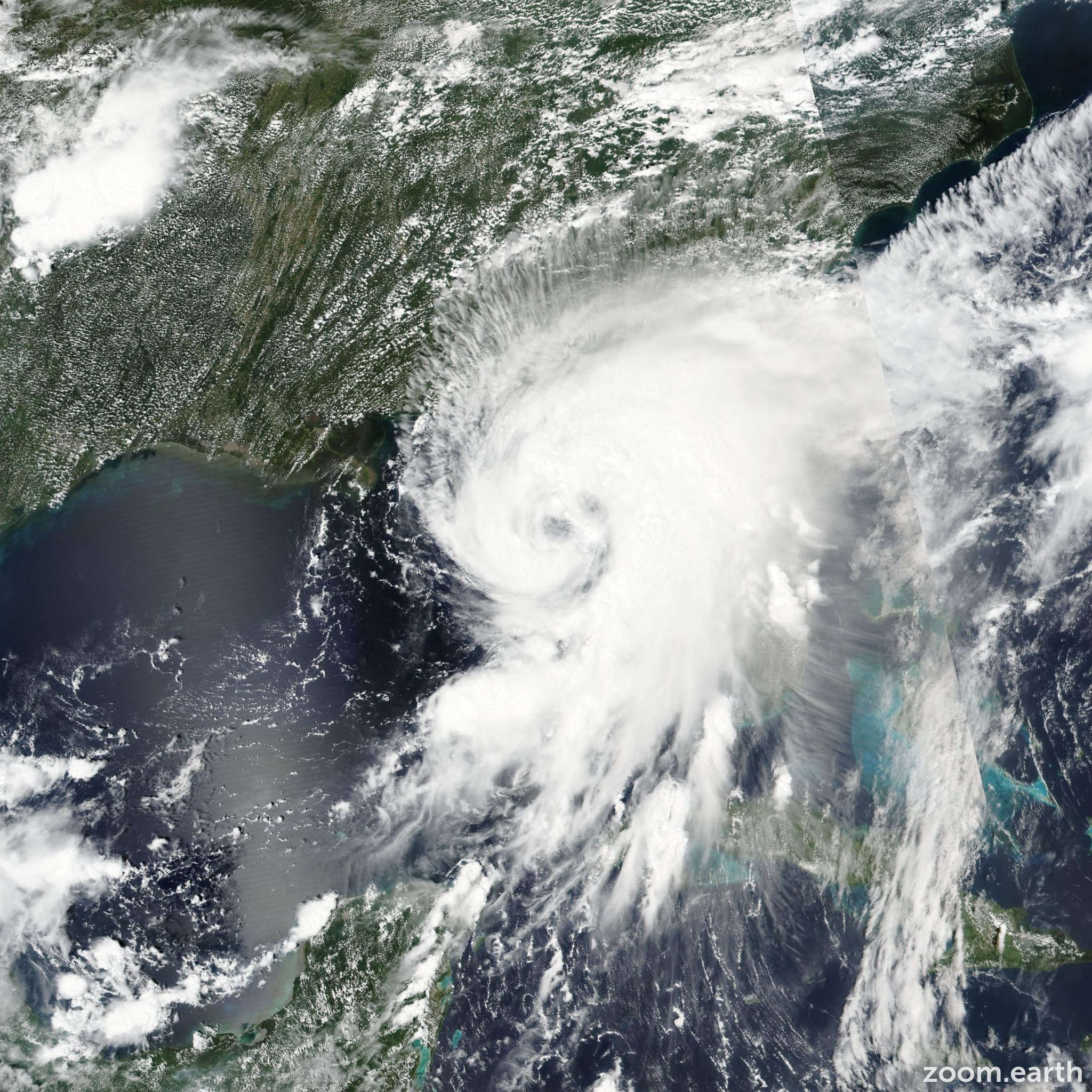 Satellite image of Hurricane Hermine 2016