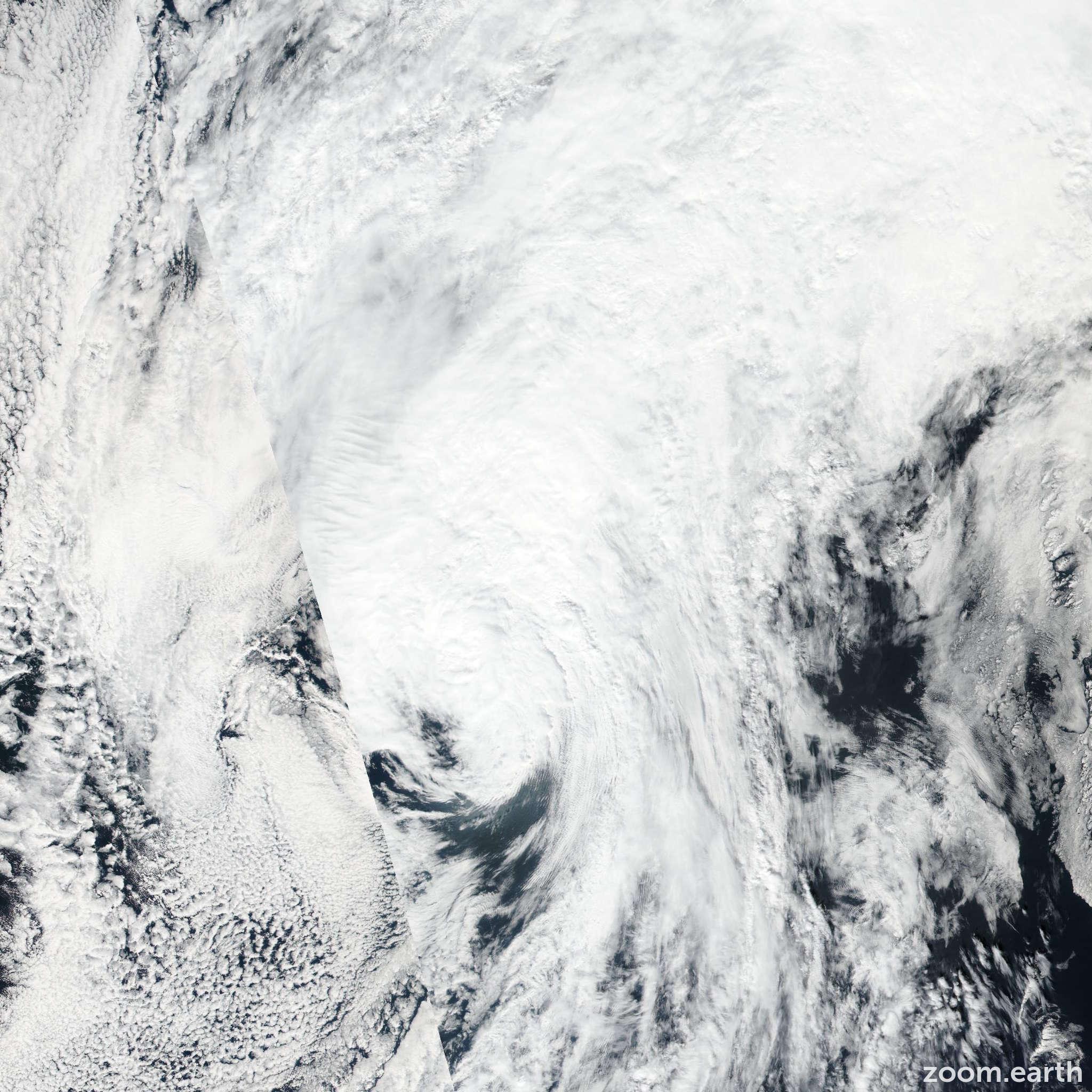 Satellite image of Storm Ian 2016