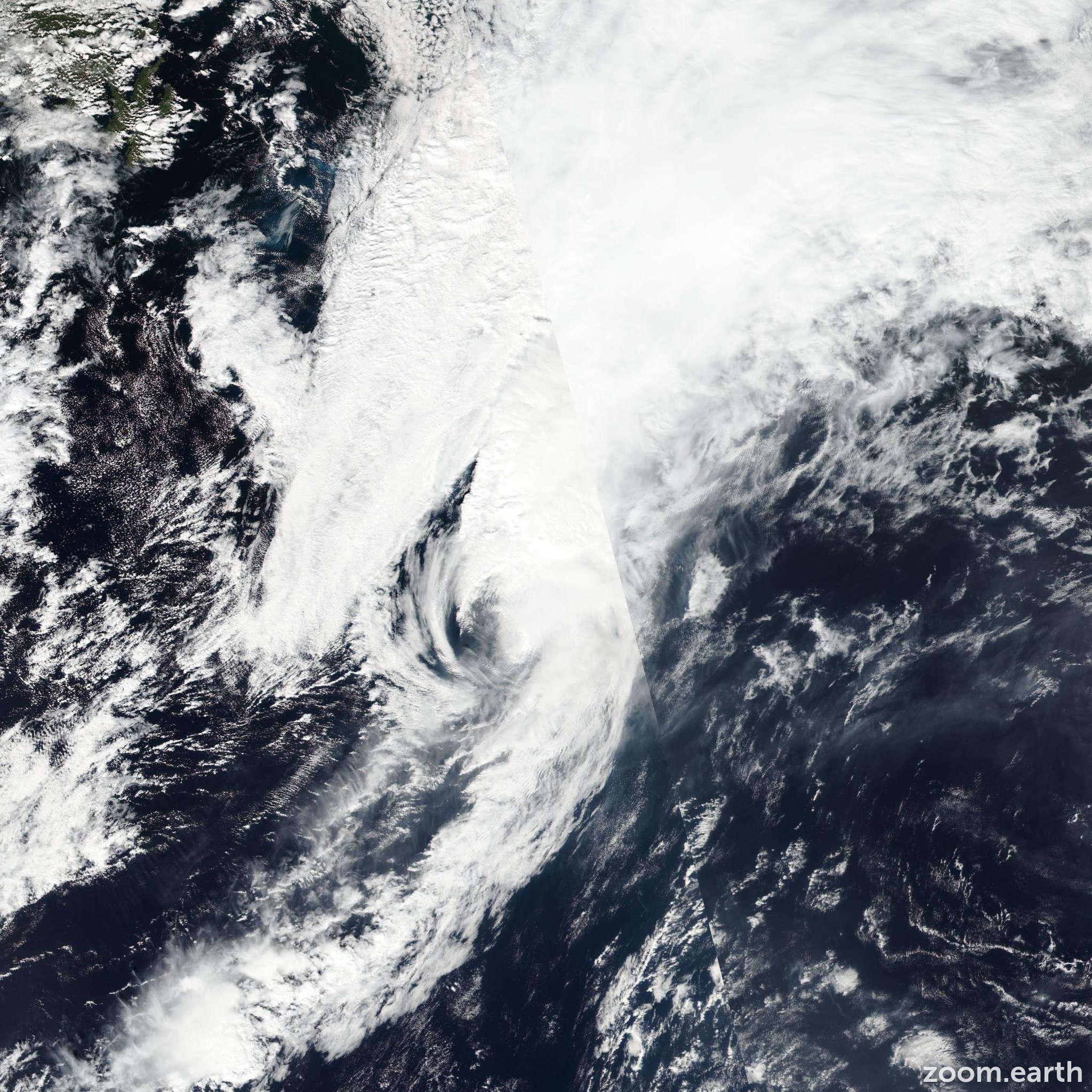 Satellite image of Storm Karl 2016