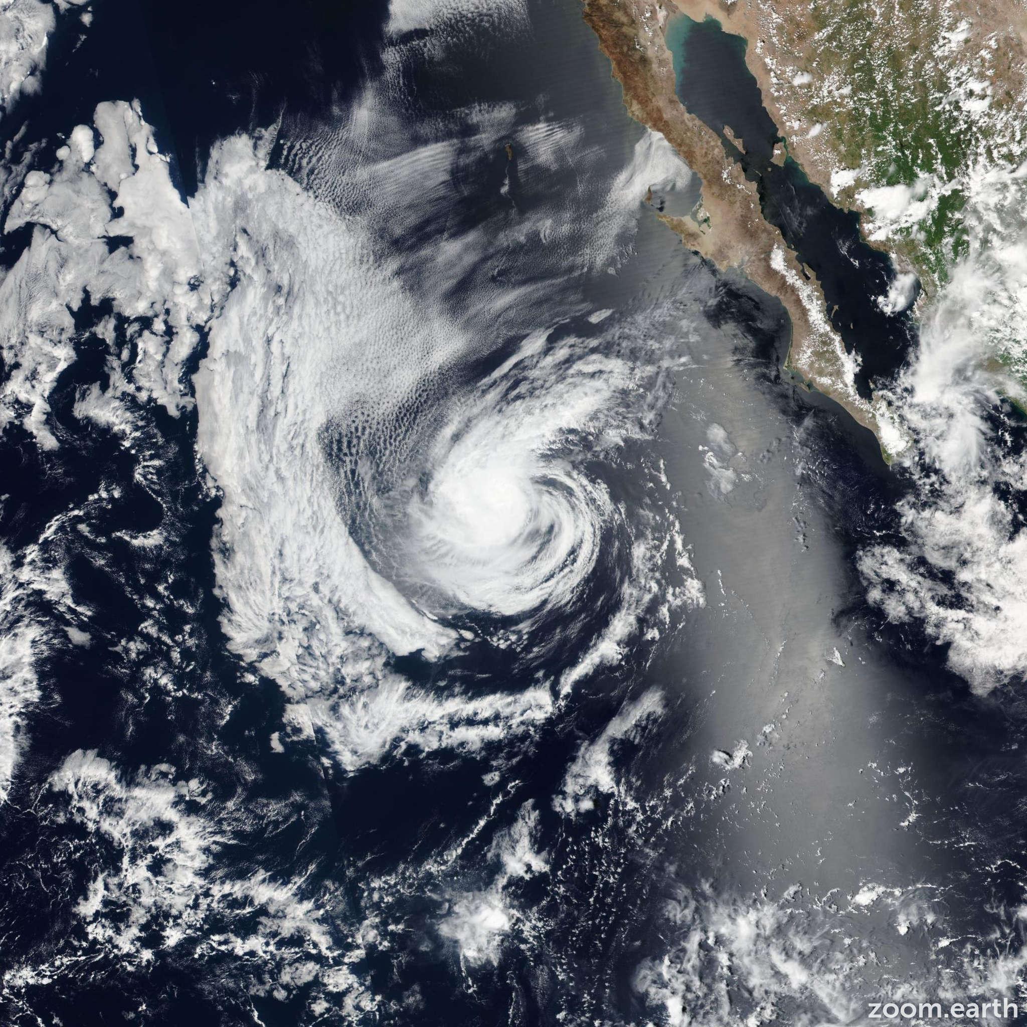 Satellite image of Storm Kay 2016