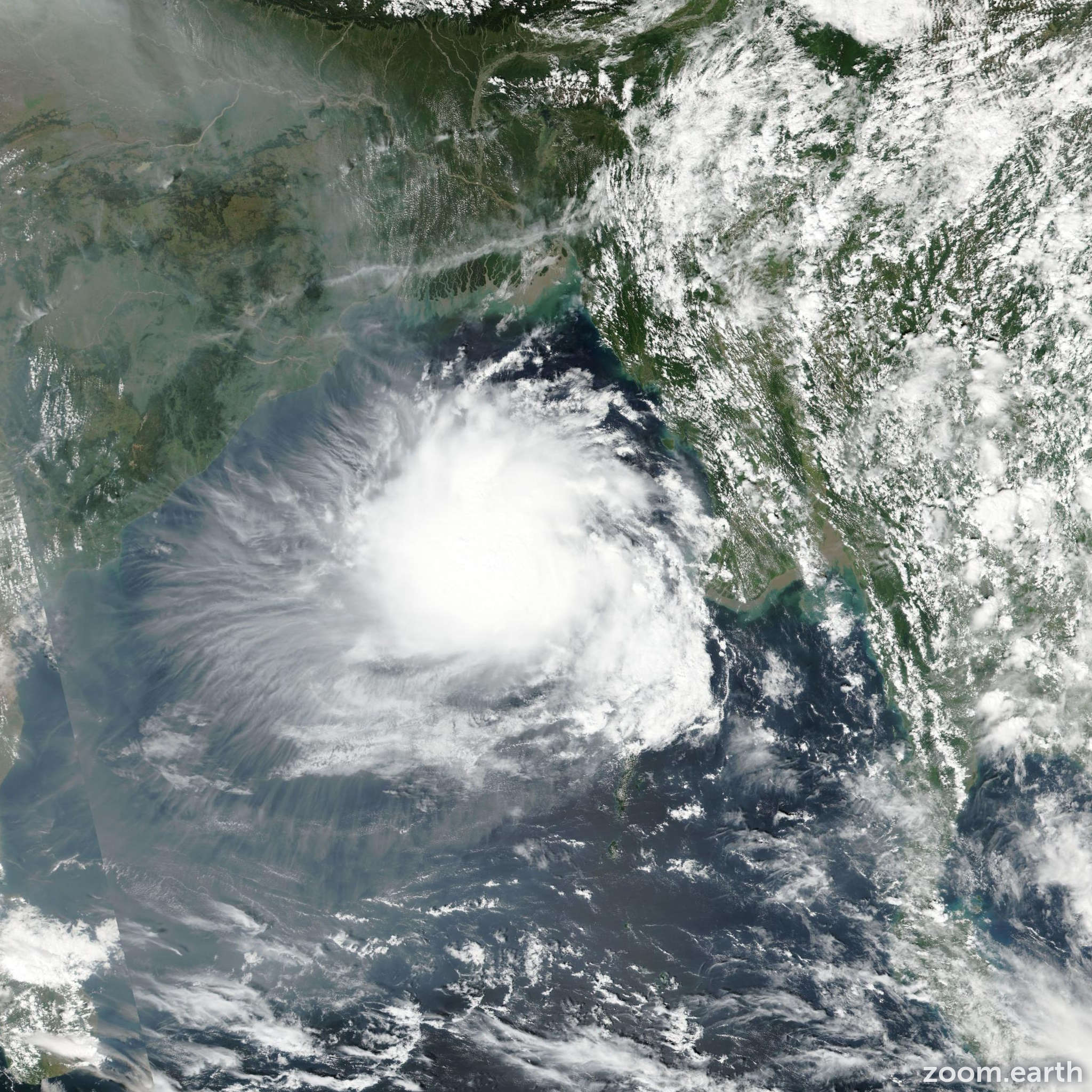 Satellite image of Cyclone Kyant 2016