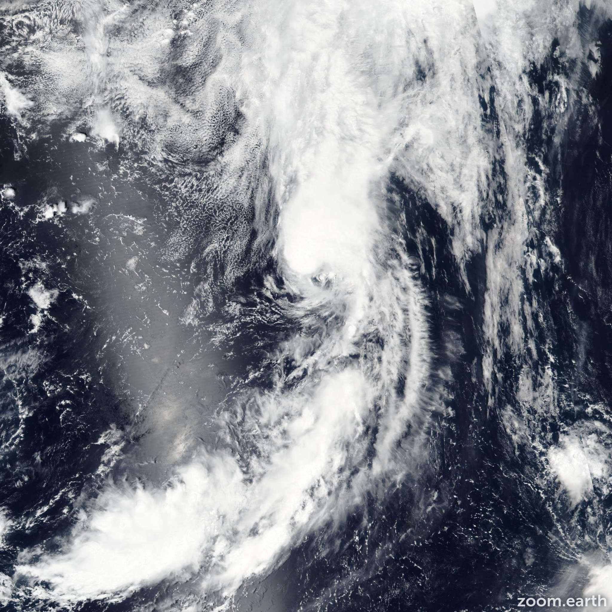 Satellite image of Storm Lupit 2016